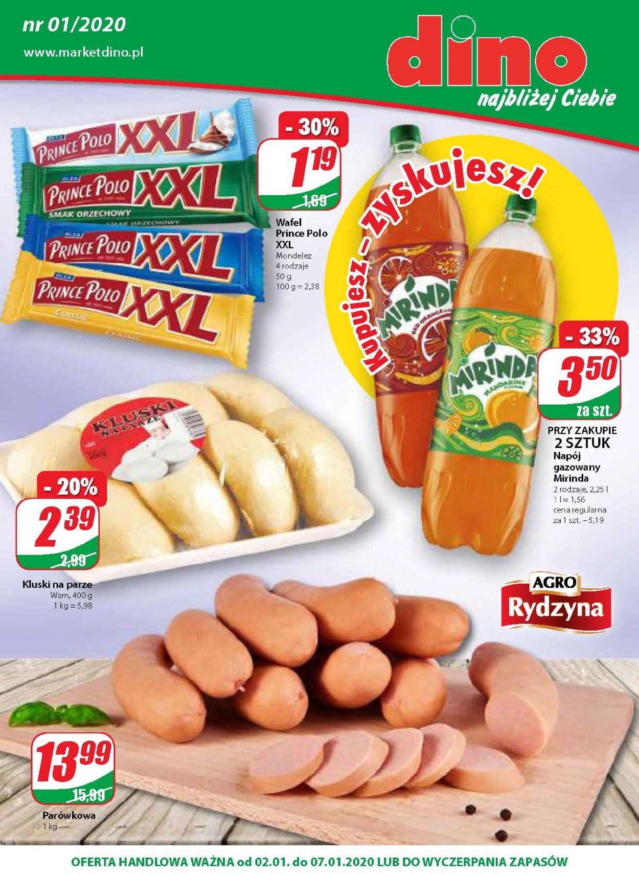 Gazetka promocyjna Dino - 02.01-07.01.2020