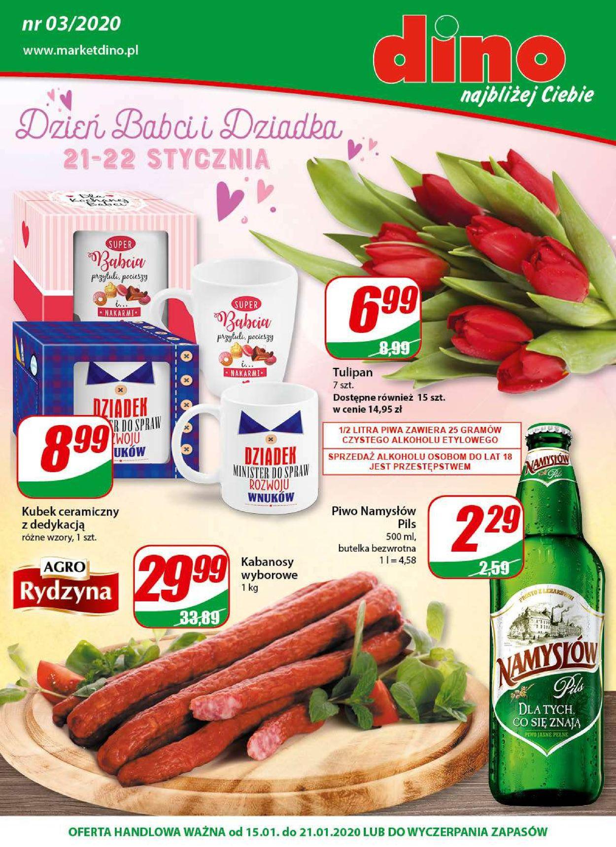 Gazetka promocyjna Dino - 15.01-21.01.2020