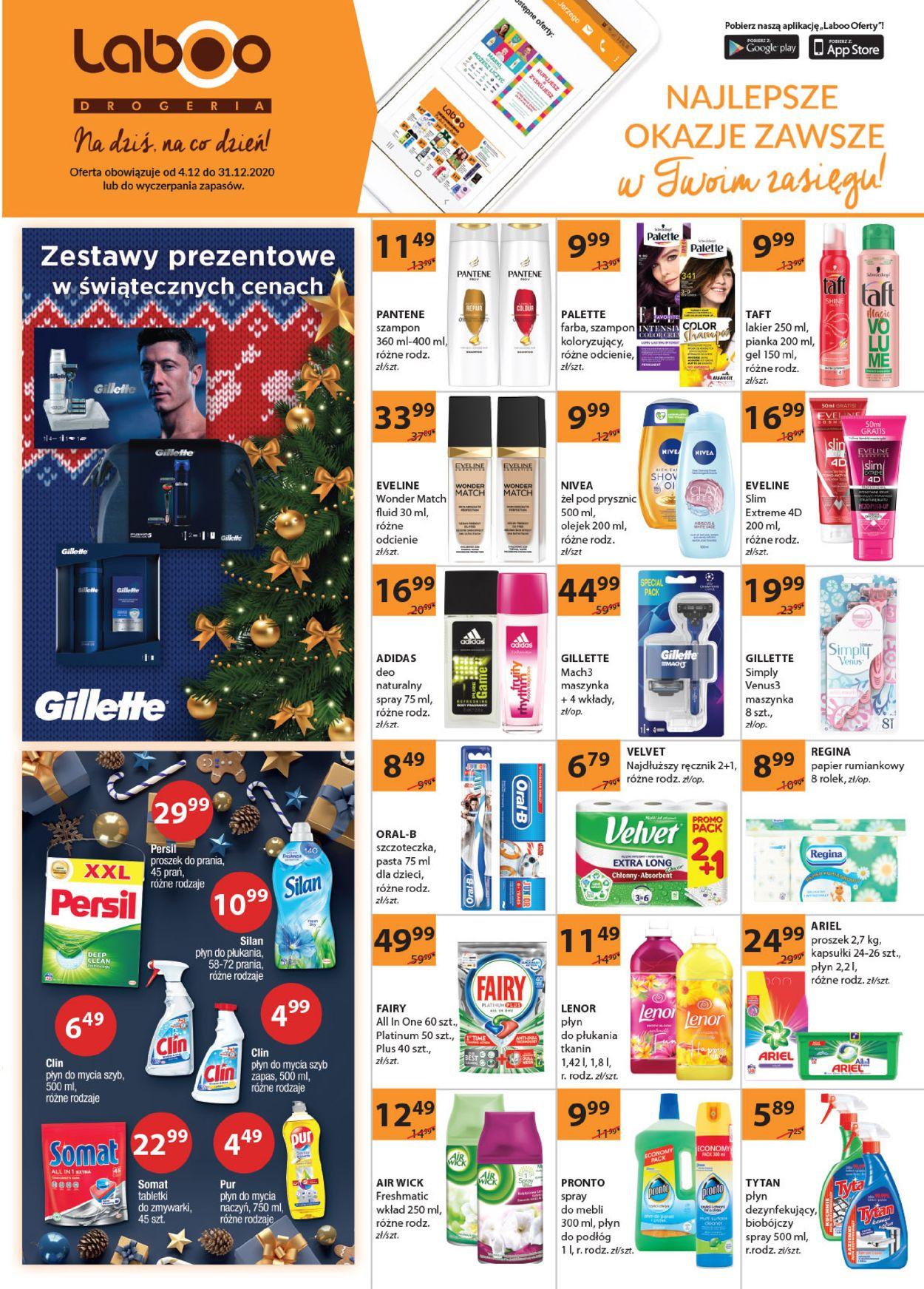 Gazetka promocyjna Drogerie Laboo Gazetka Świąteczna 2020 - 04.12-31.12.2020