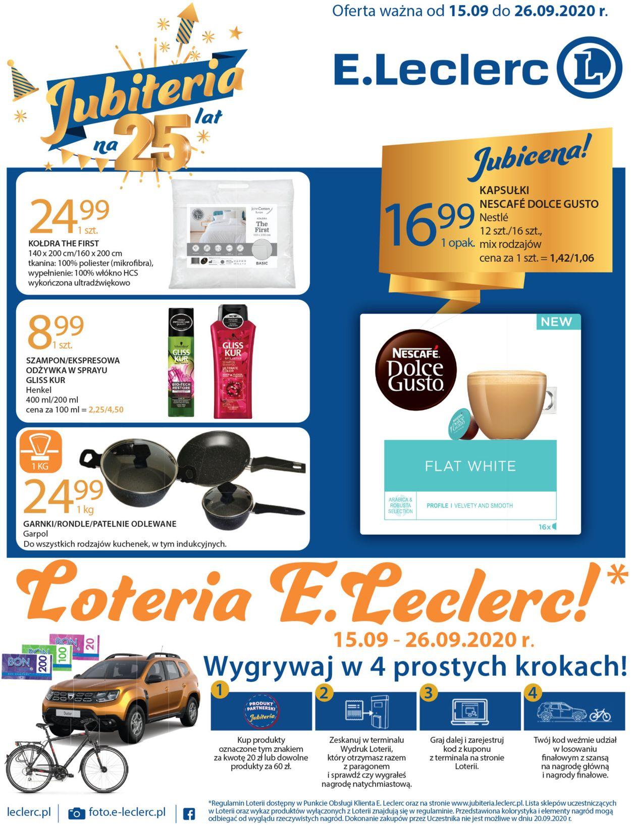 Gazetka promocyjna E.Leclerc - 15.09-26.09.2020