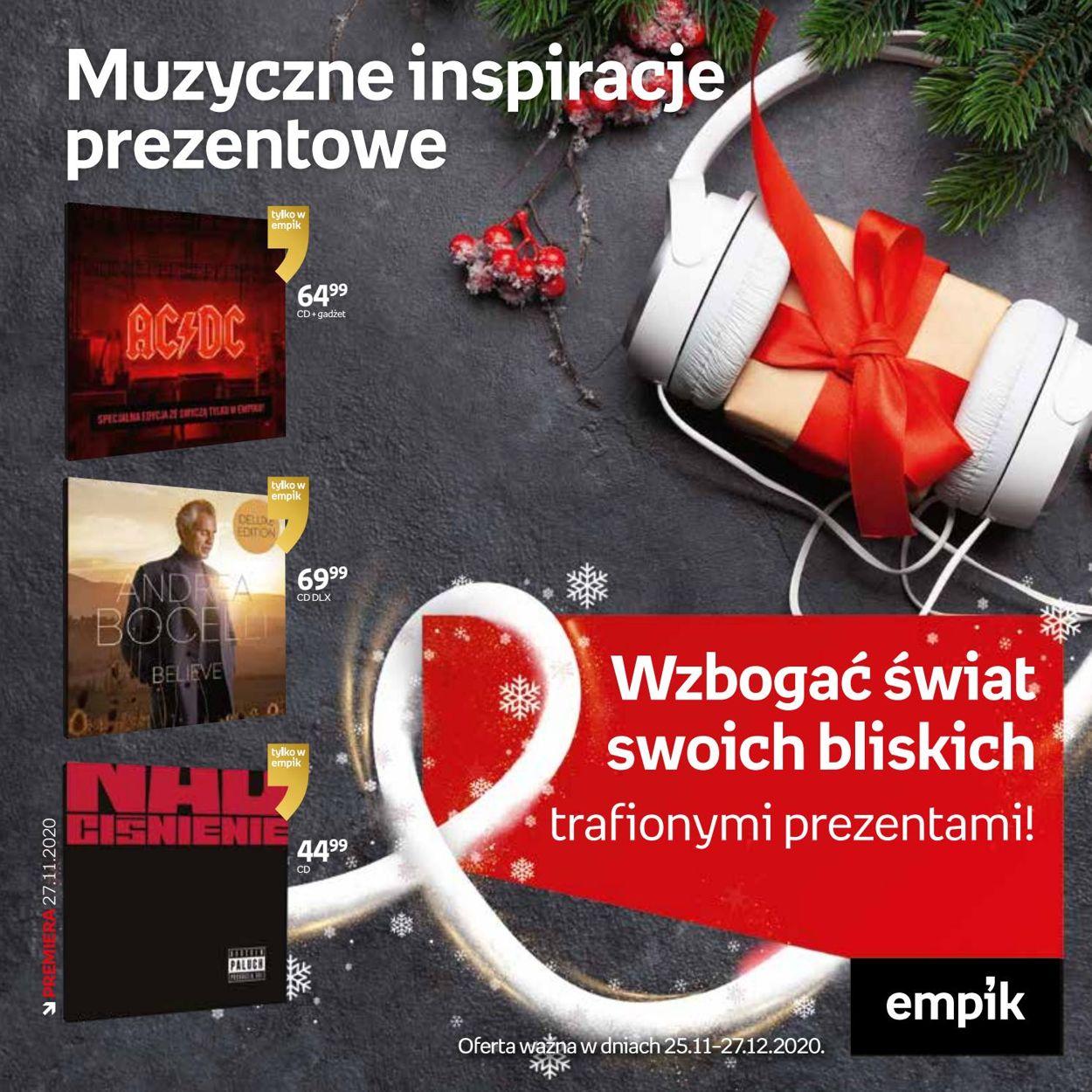Gazetka promocyjna Empik Katalog Świąteczny 2020 - 25.11-27.12.2020