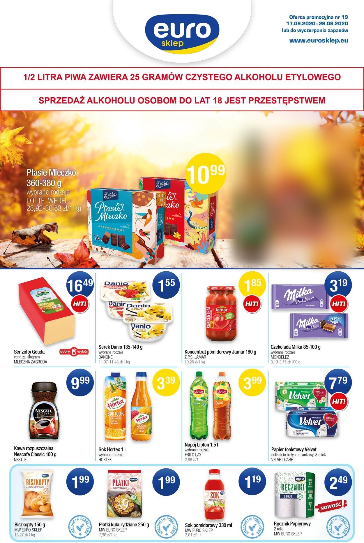 Gazetka promocyjna Euro Sklep - 17.09-29.09.2020