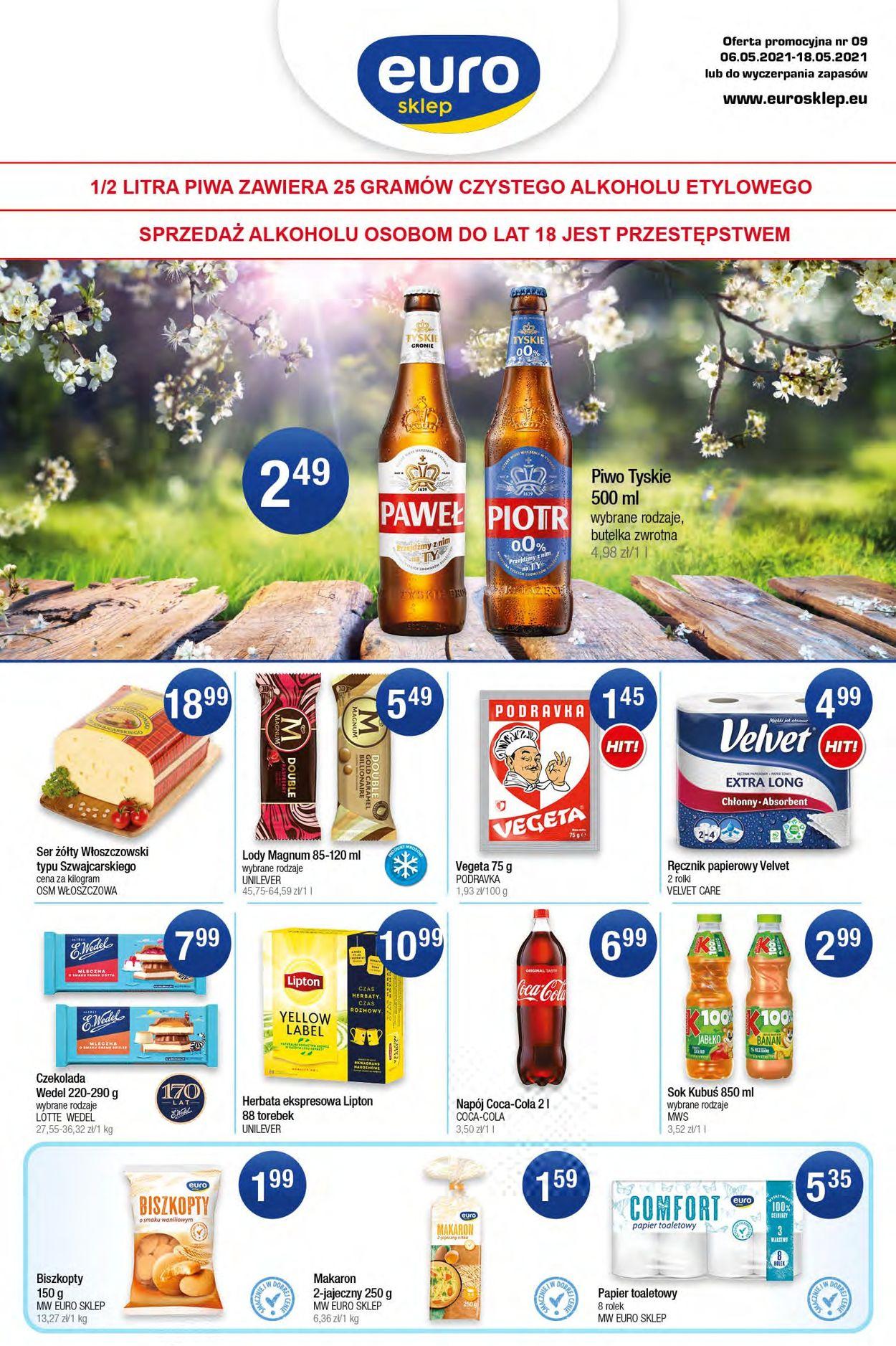 Gazetka promocyjna Euro Sklep - 06.05-18.05.2021