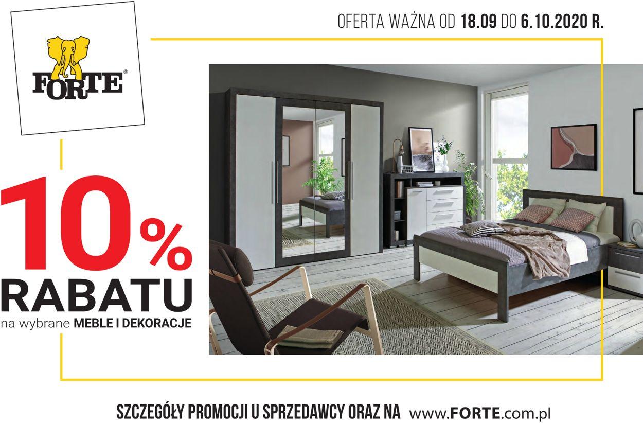 Gazetka promocyjna Forte - 18.09-06.10.2020