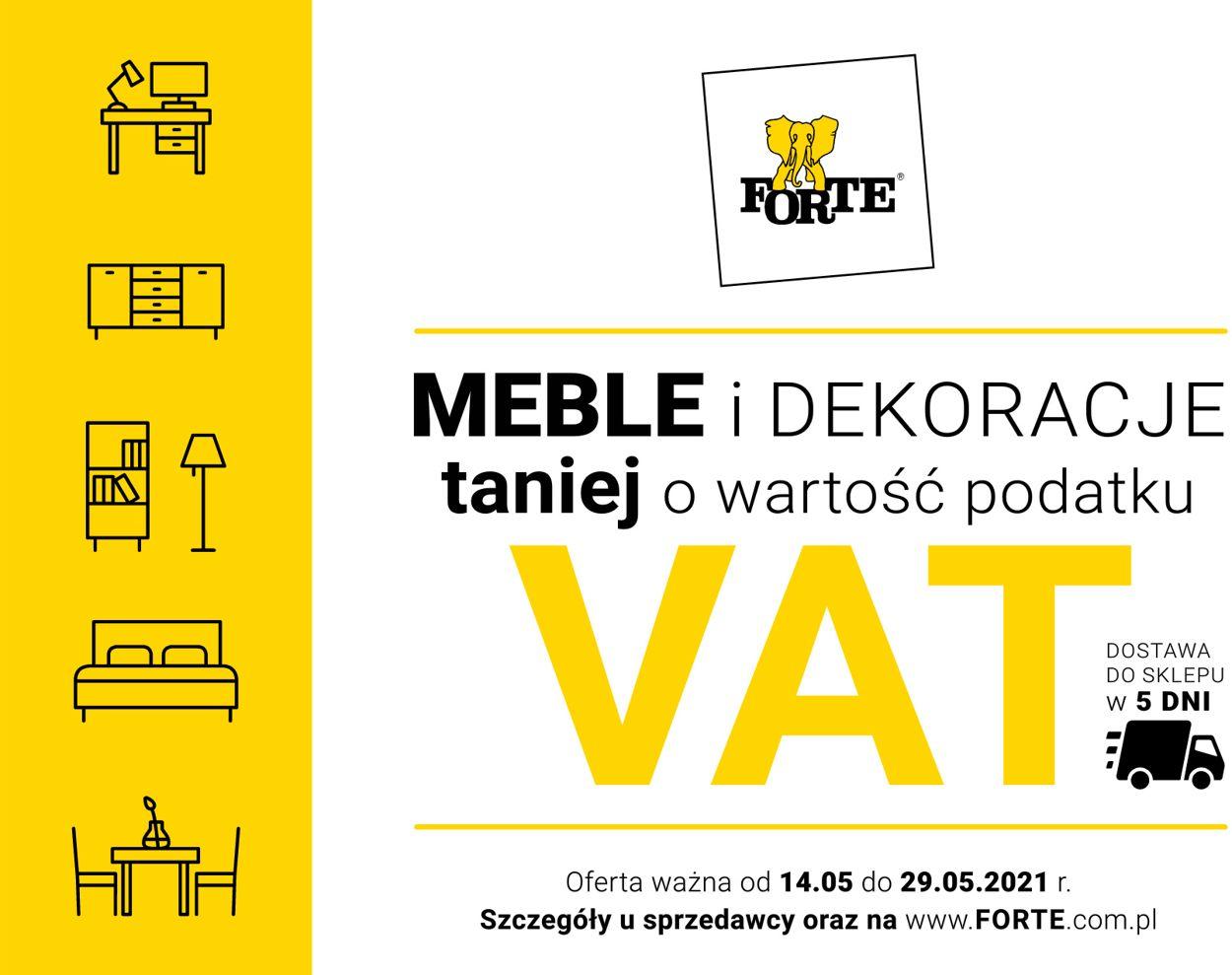 Gazetka promocyjna Forte - 14.05-29.05.2021