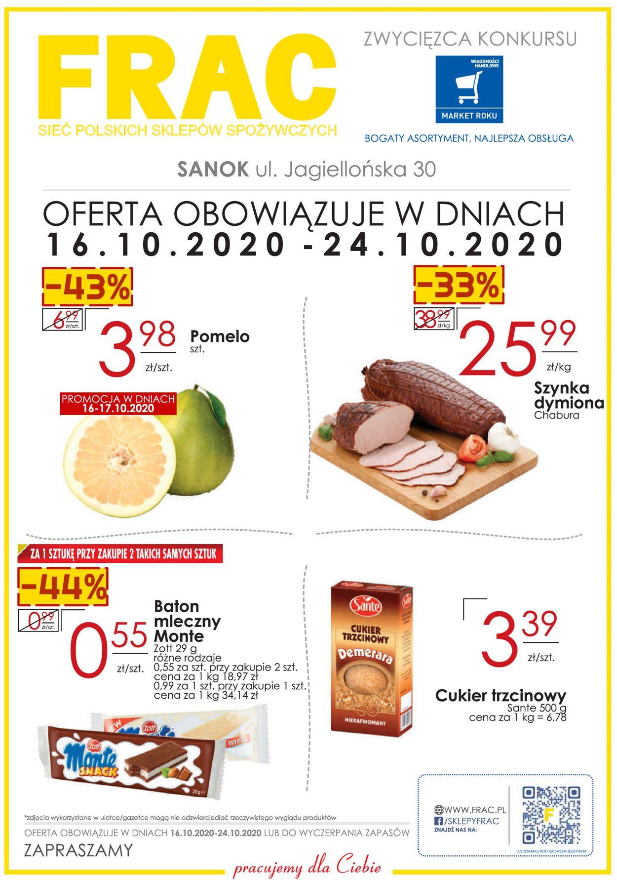 Gazetka promocyjna Frac - 16.10-24.10.2020