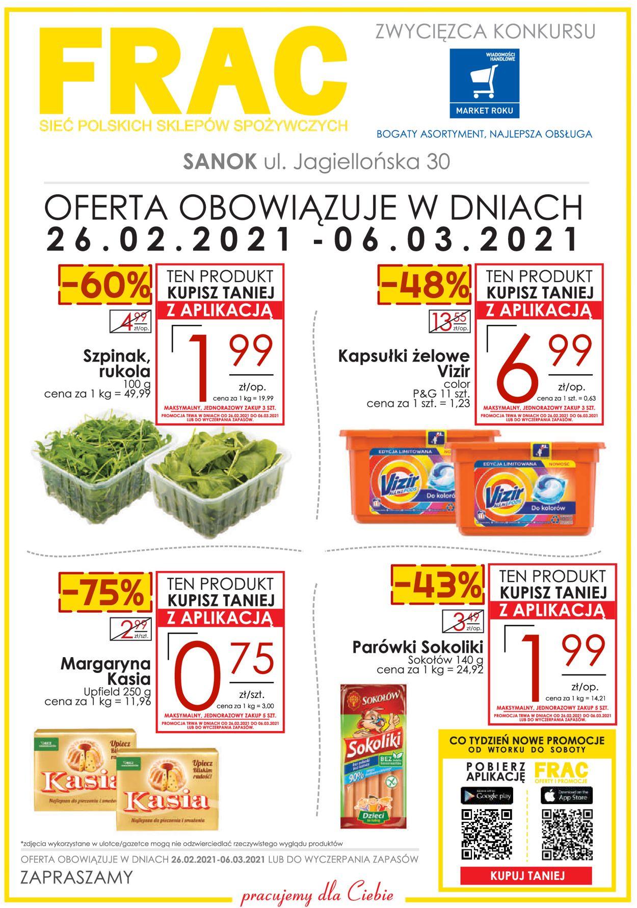 Gazetka promocyjna Frac - SANOK - 26.02-06.03.2021