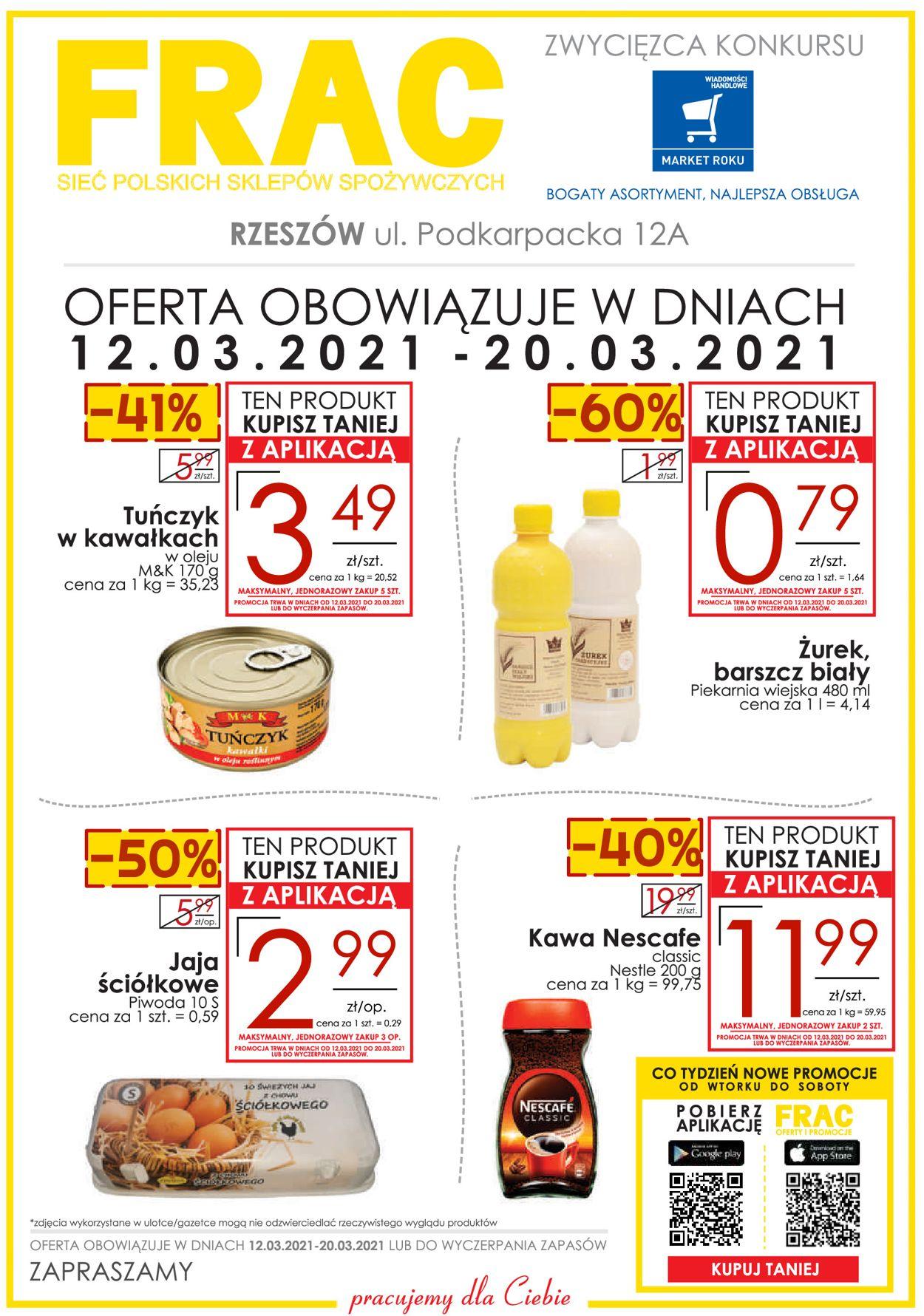 Gazetka promocyjna Frac RZESZÓW UL. PODKARPACKA 12A - 12.03-20.03.2021