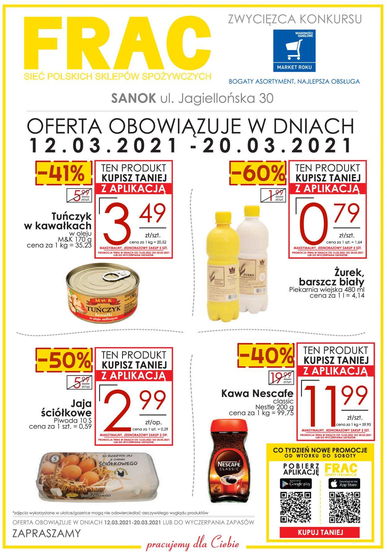 Gazetka promocyjna Frac SANOK - 12.03-20.03.2021