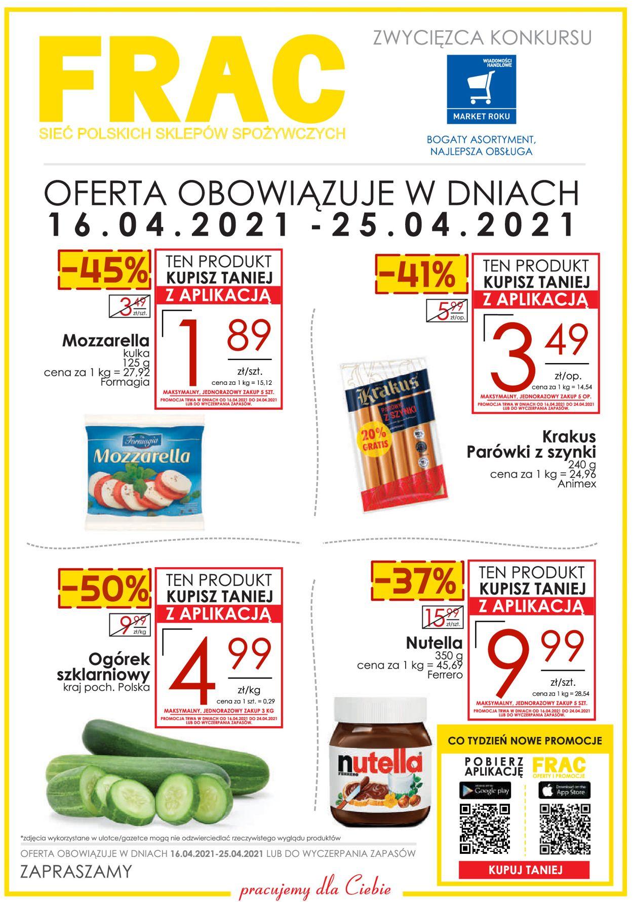 Gazetka promocyjna Frac - RZESZÓW | SANOK | STALOWA WOLA | TARNOBRZEG | WARSZAWA - 16.04-25.04.2021