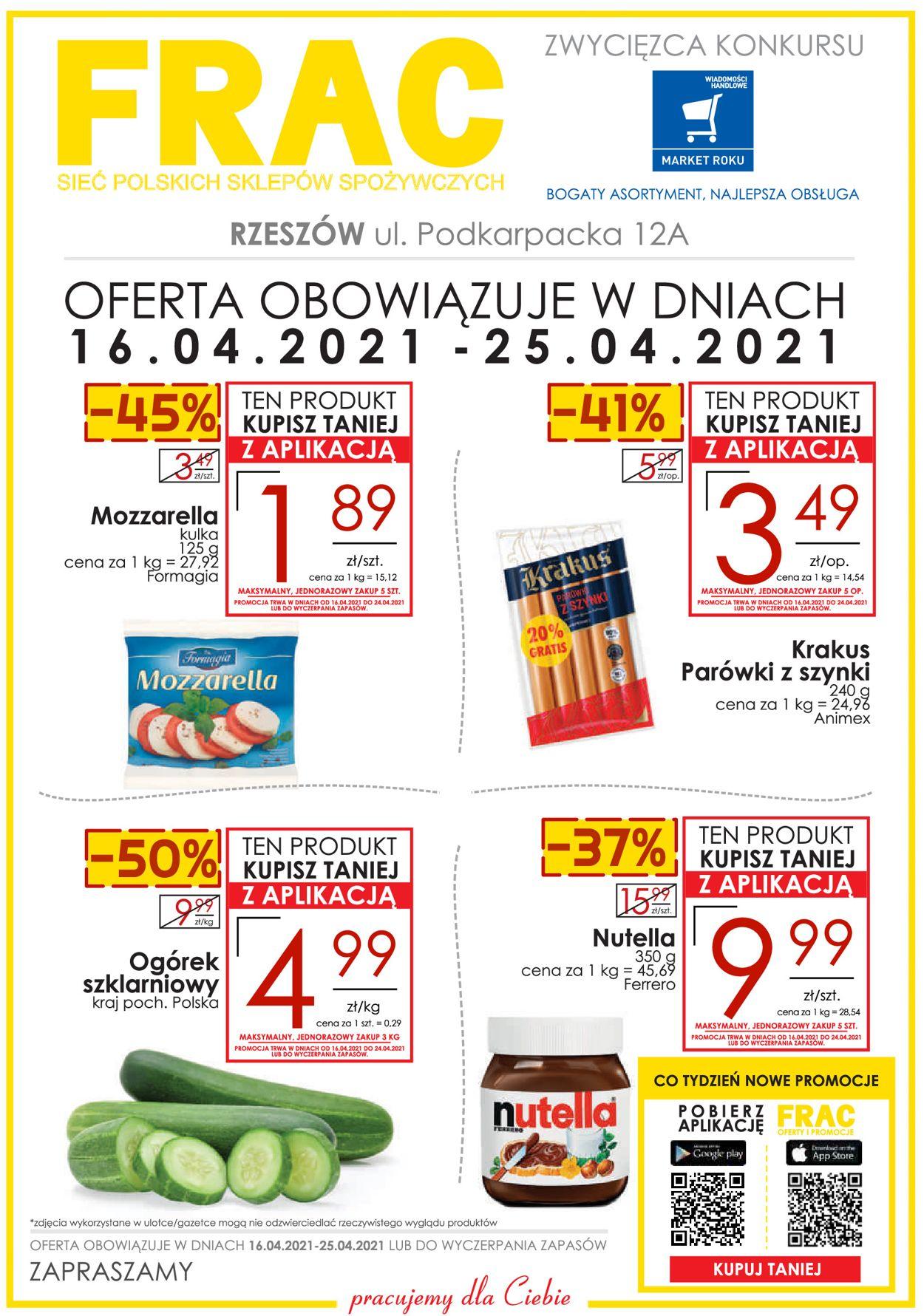 Gazetka promocyjna Frac - RZESZÓW UL. PODKARPACKA 12A - 16.04-25.04.2021