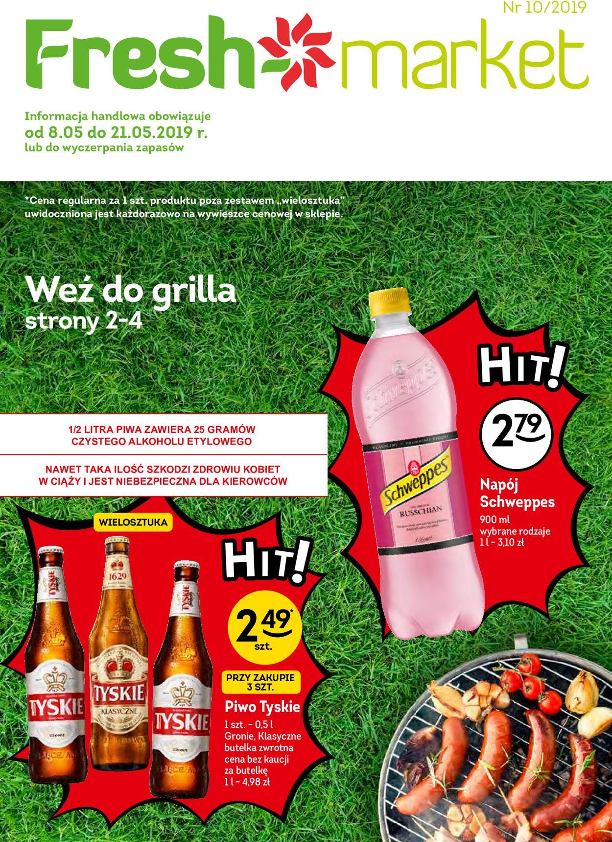Gazetka promocyjna Fresh market - 08.05-21.05.2019