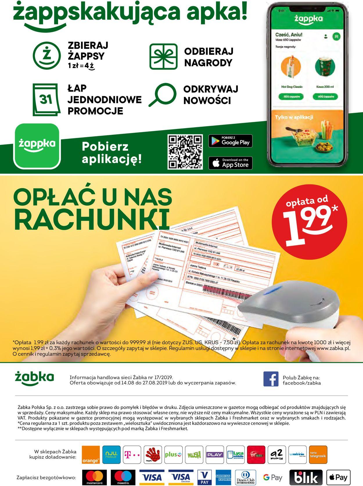 Gazetka promocyjna Fresh market - 14.08-27.08.2019 (Strona 32)