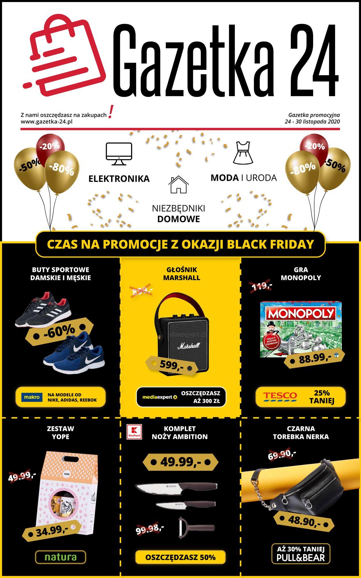 Gazetka promocyjna Gazetka 24 Black Friday 2020 - 24.11-30.11.2020