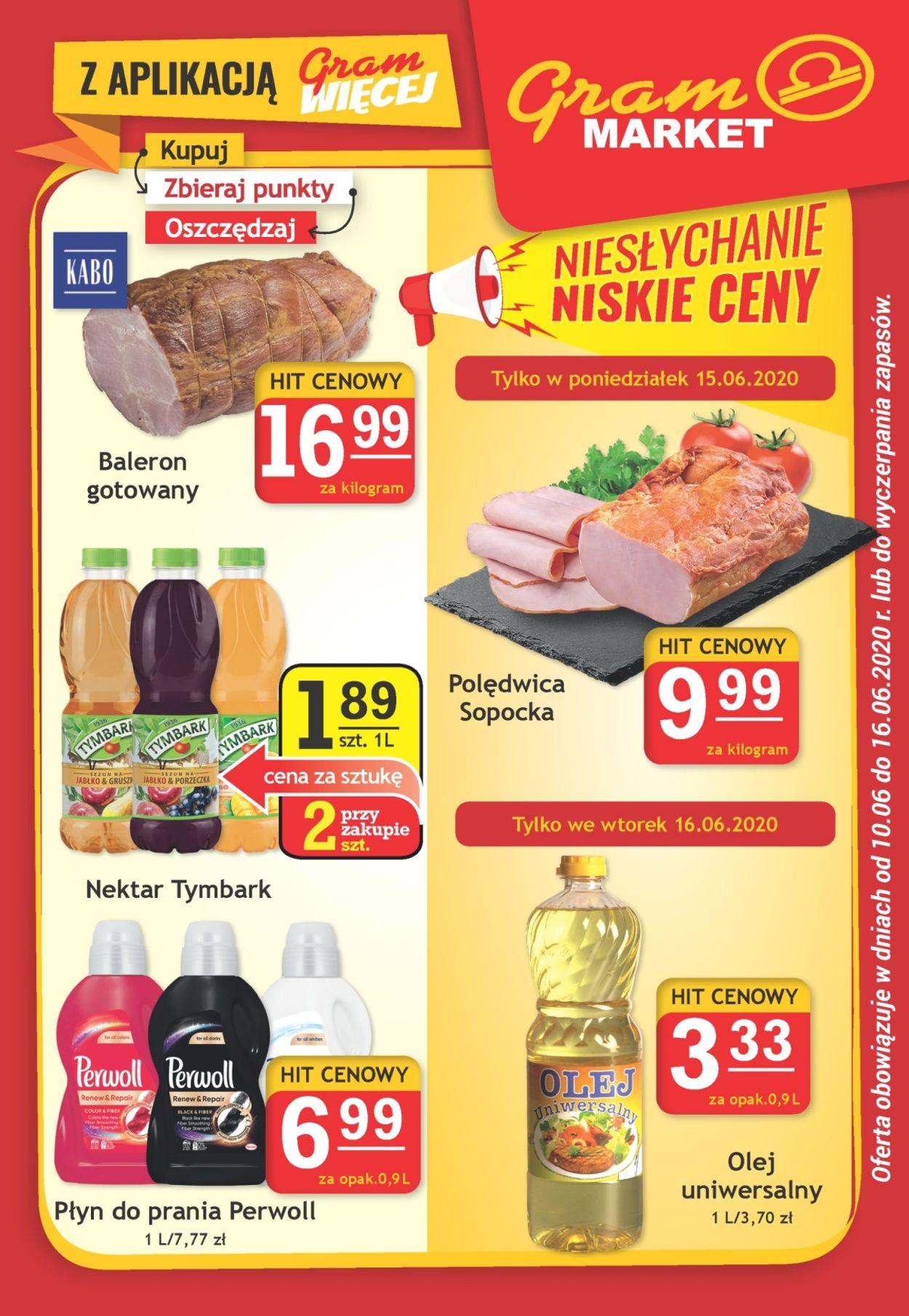 Gazetka promocyjna Gram Market - 10.06-16.06.2020