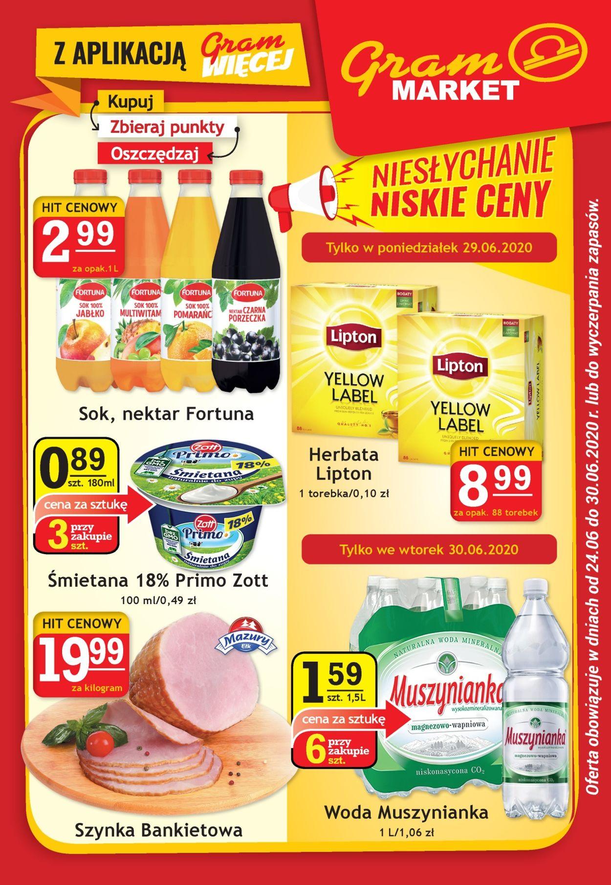 Gazetka promocyjna Gram Market - 24.06-30.06.2020