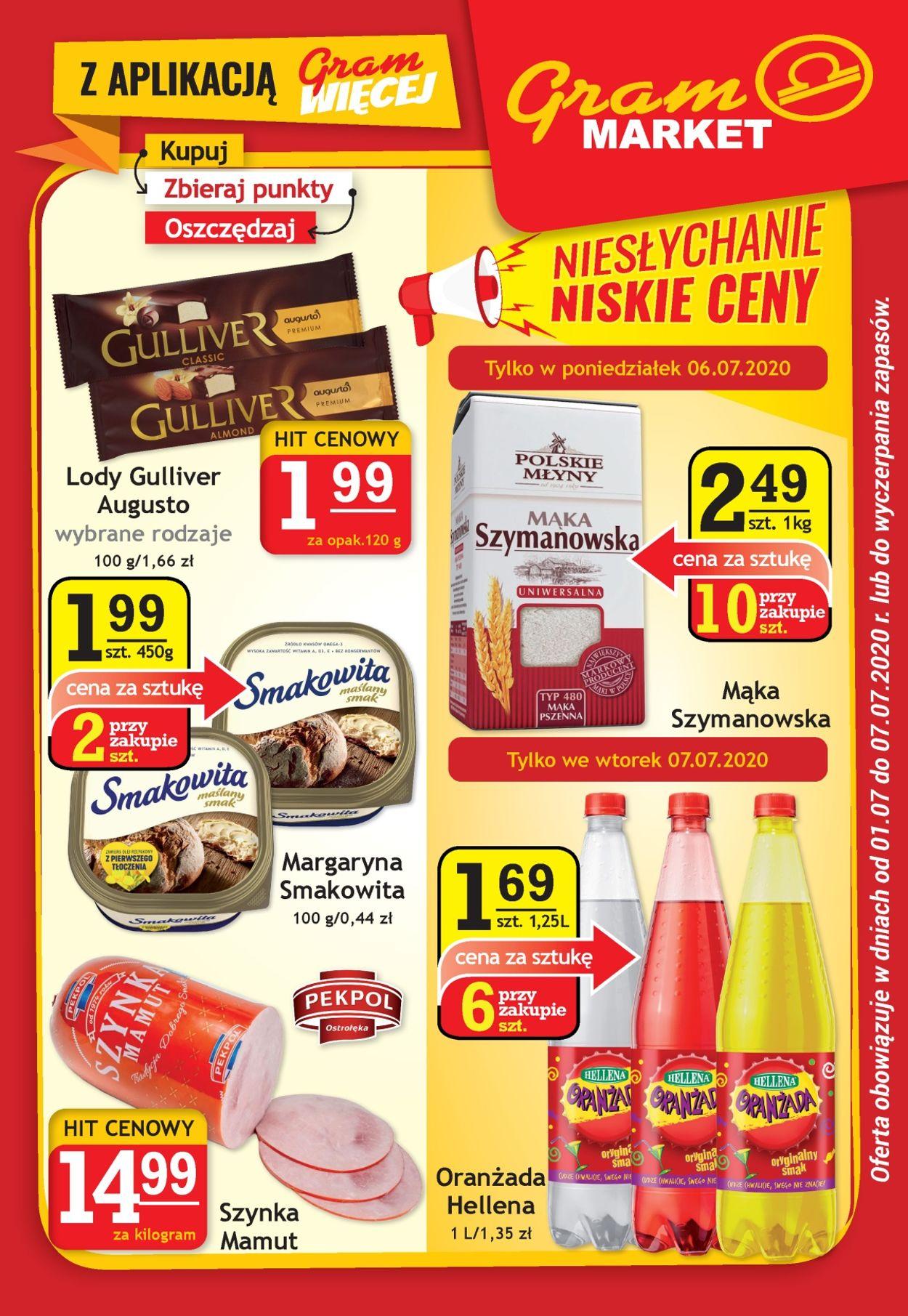 Gazetka promocyjna Gram Market - 01.07-07.07.2020