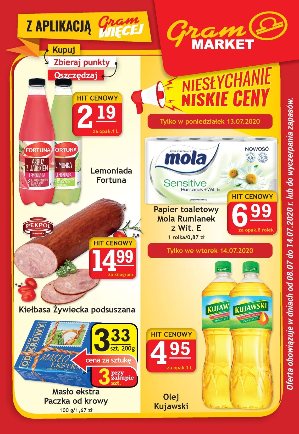 Gazetka promocyjna Gram Market - 08.07-14.07.2020