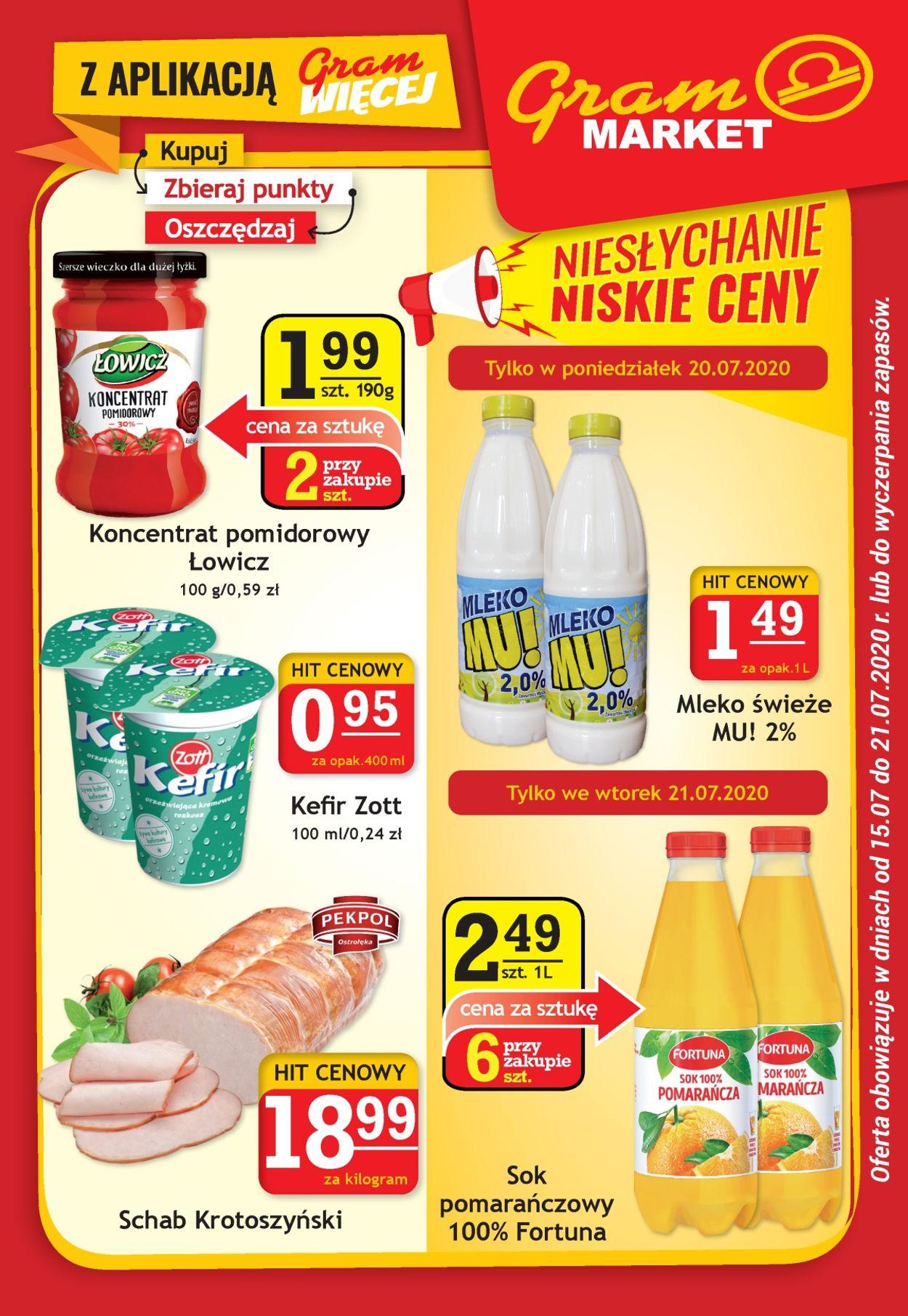 Gazetka promocyjna Gram Market - 15.07-21.07.2020