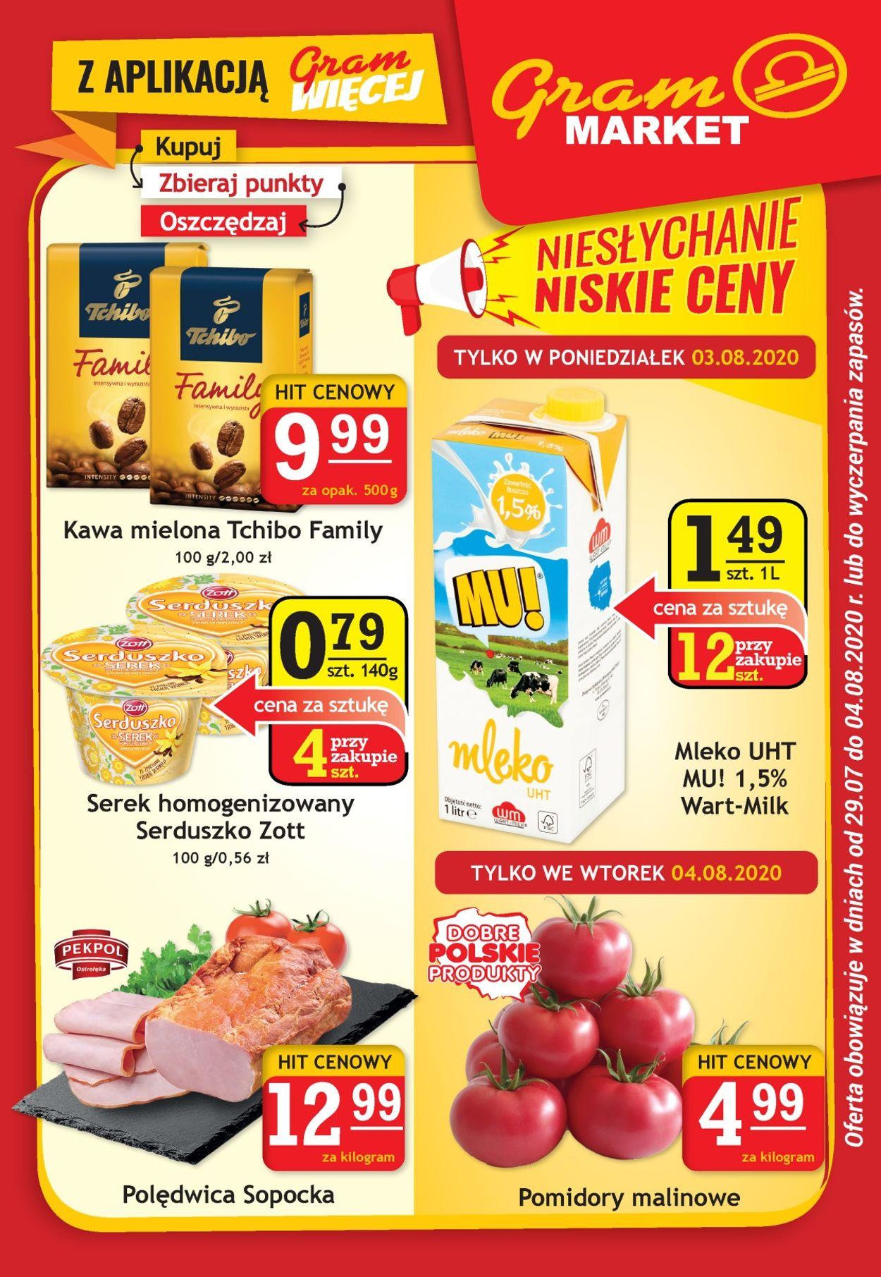 Gazetka promocyjna Gram Market - 29.07-04.08.2020