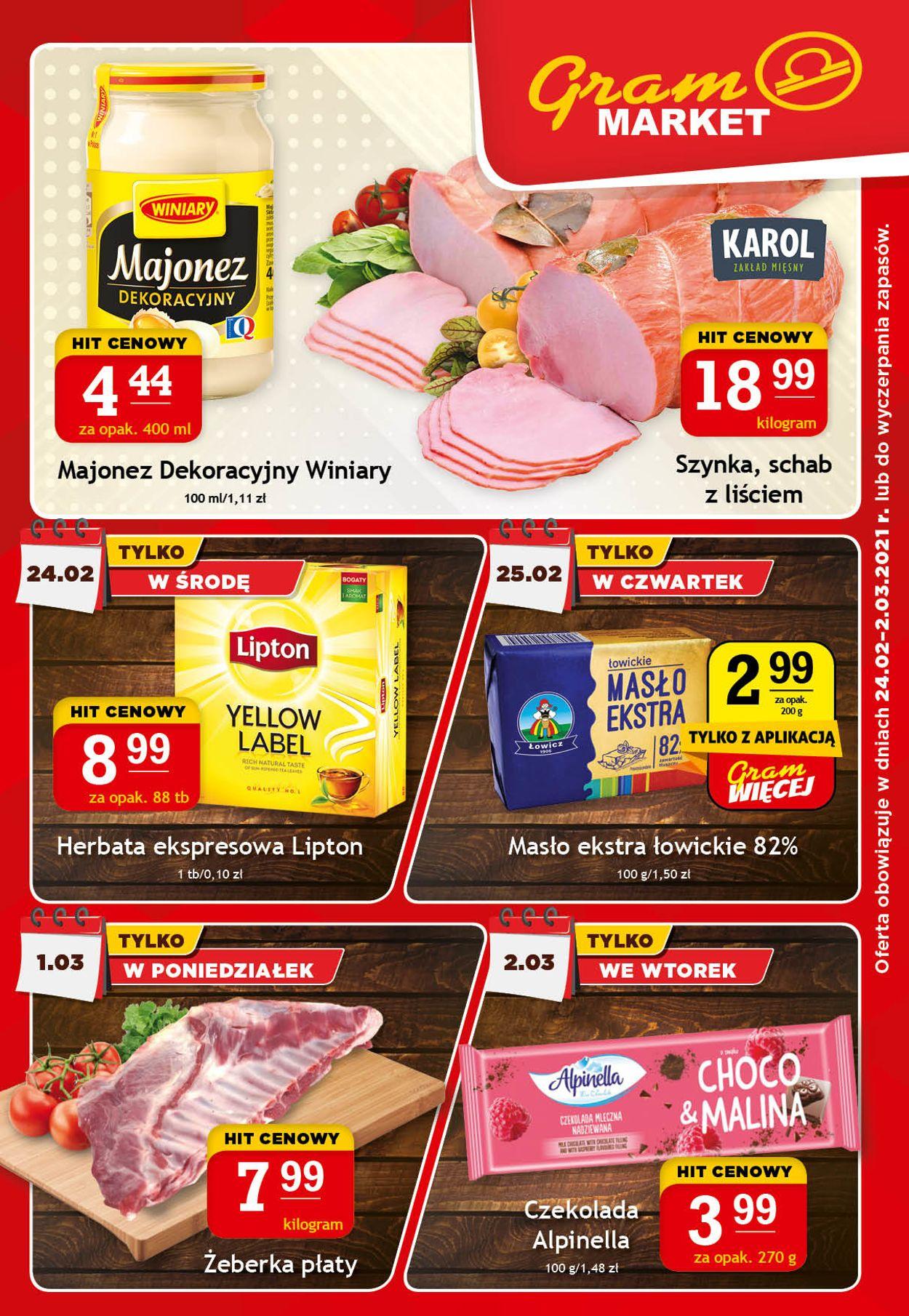 Gazetka promocyjna Gram Market - 24.02-02.03.2021