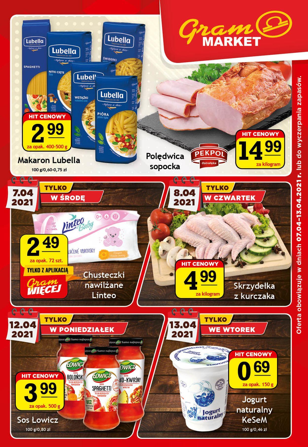 Gazetka promocyjna Gram Market - 07.04-13.04.2021