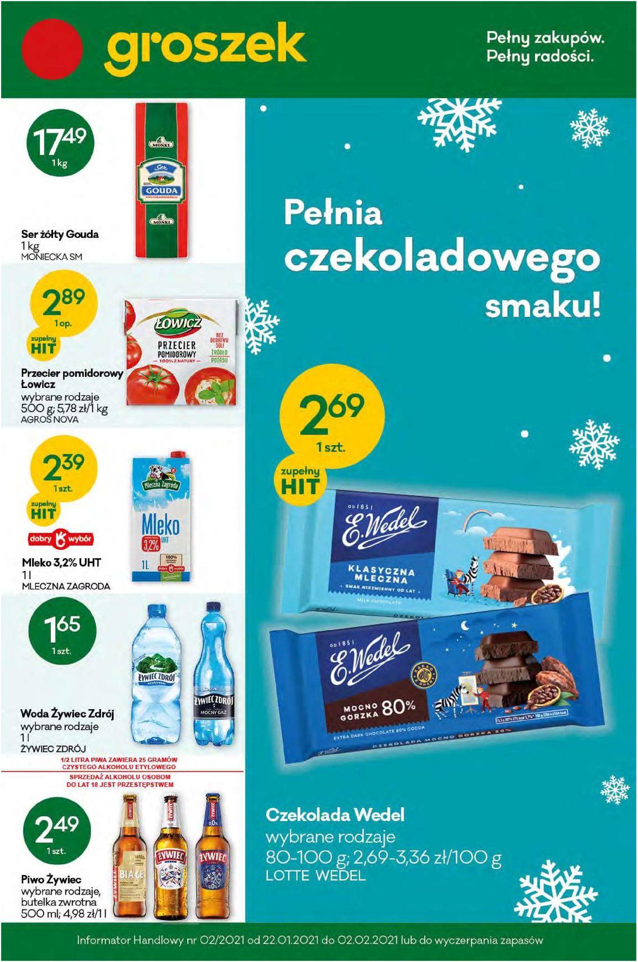 Gazetka promocyjna Groszek - 22.01-02.02.2021
