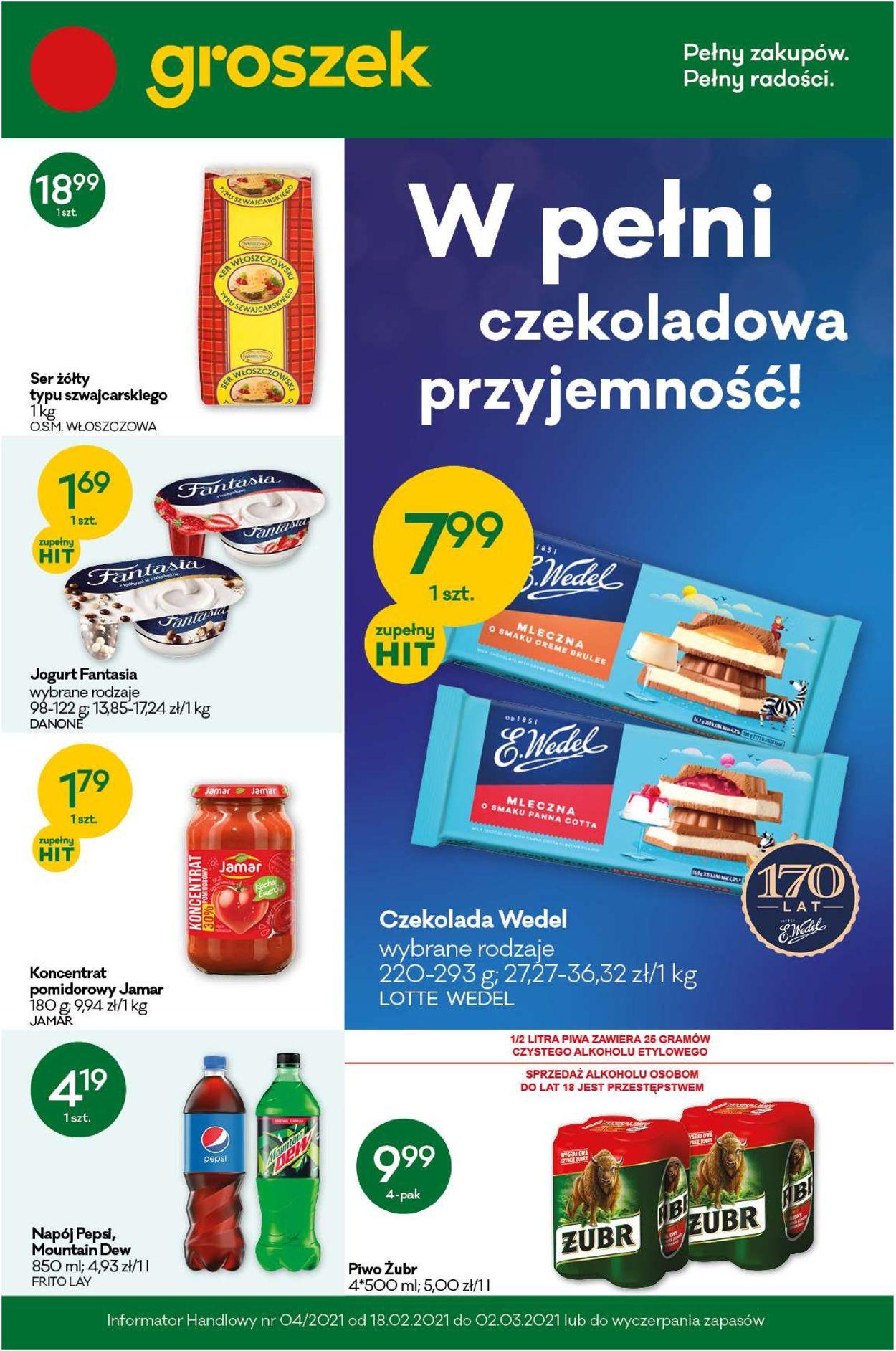 Gazetka promocyjna Groszek - 18.02-02.03.2021
