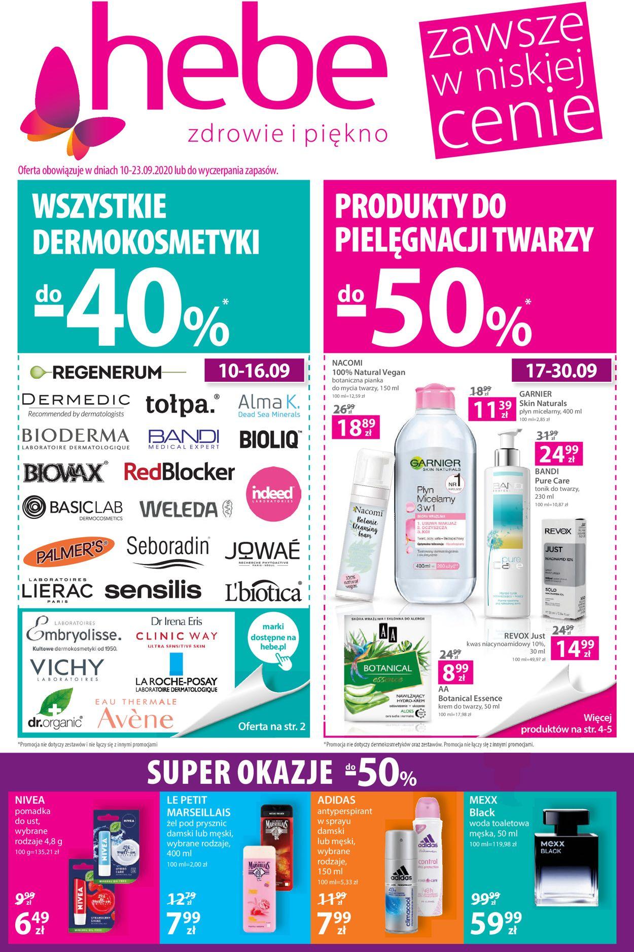 Gazetka promocyjna Hebe - 10.09-23.09.2020