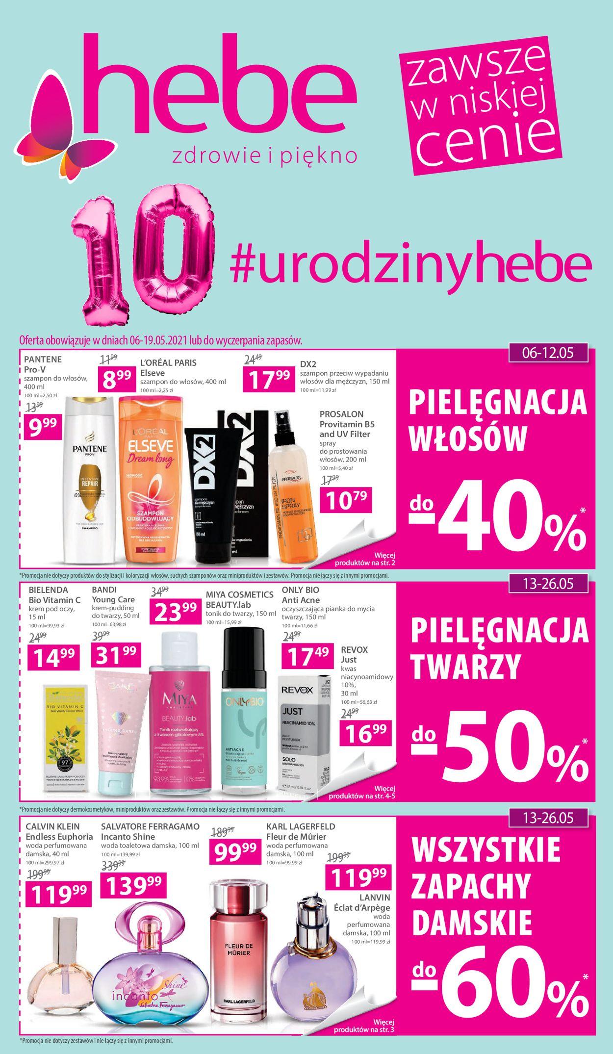 Gazetka promocyjna Hebe - 06.05-19.05.2021