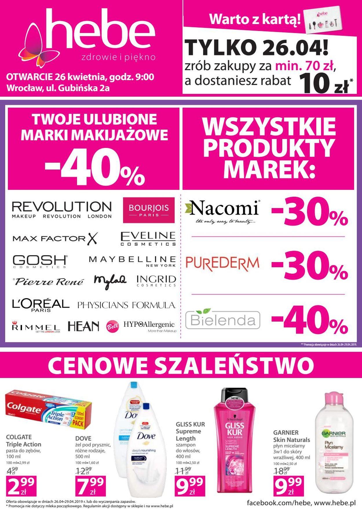 Gazetka promocyjna Hebe - 26.04-29.04.2019