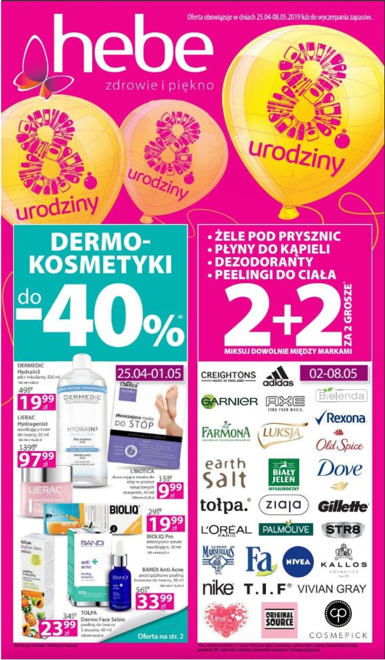 Gazetka promocyjna Hebe - 25.04-08.05.2019