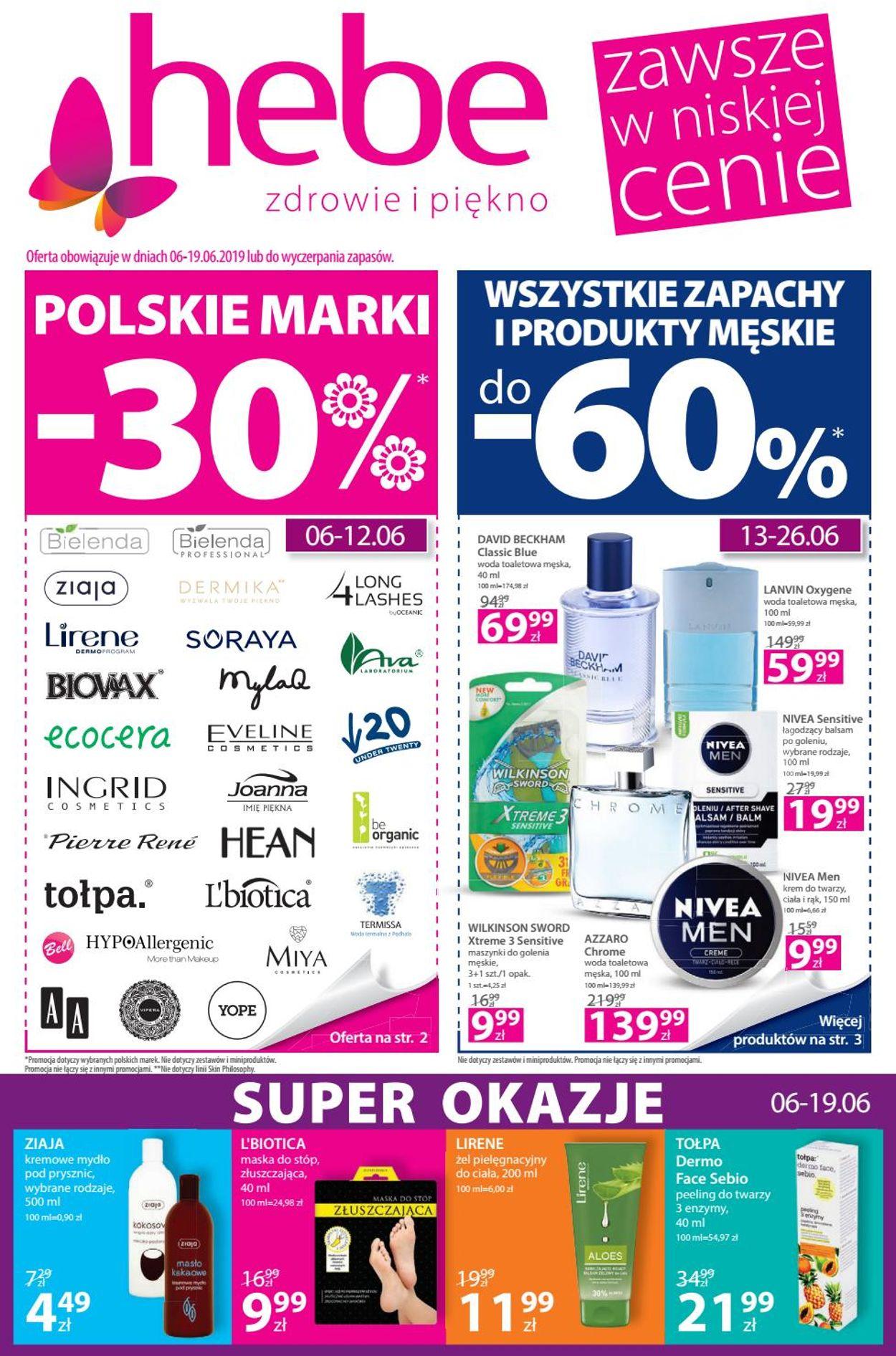 Gazetka promocyjna Hebe - 06.06-19.06.2019