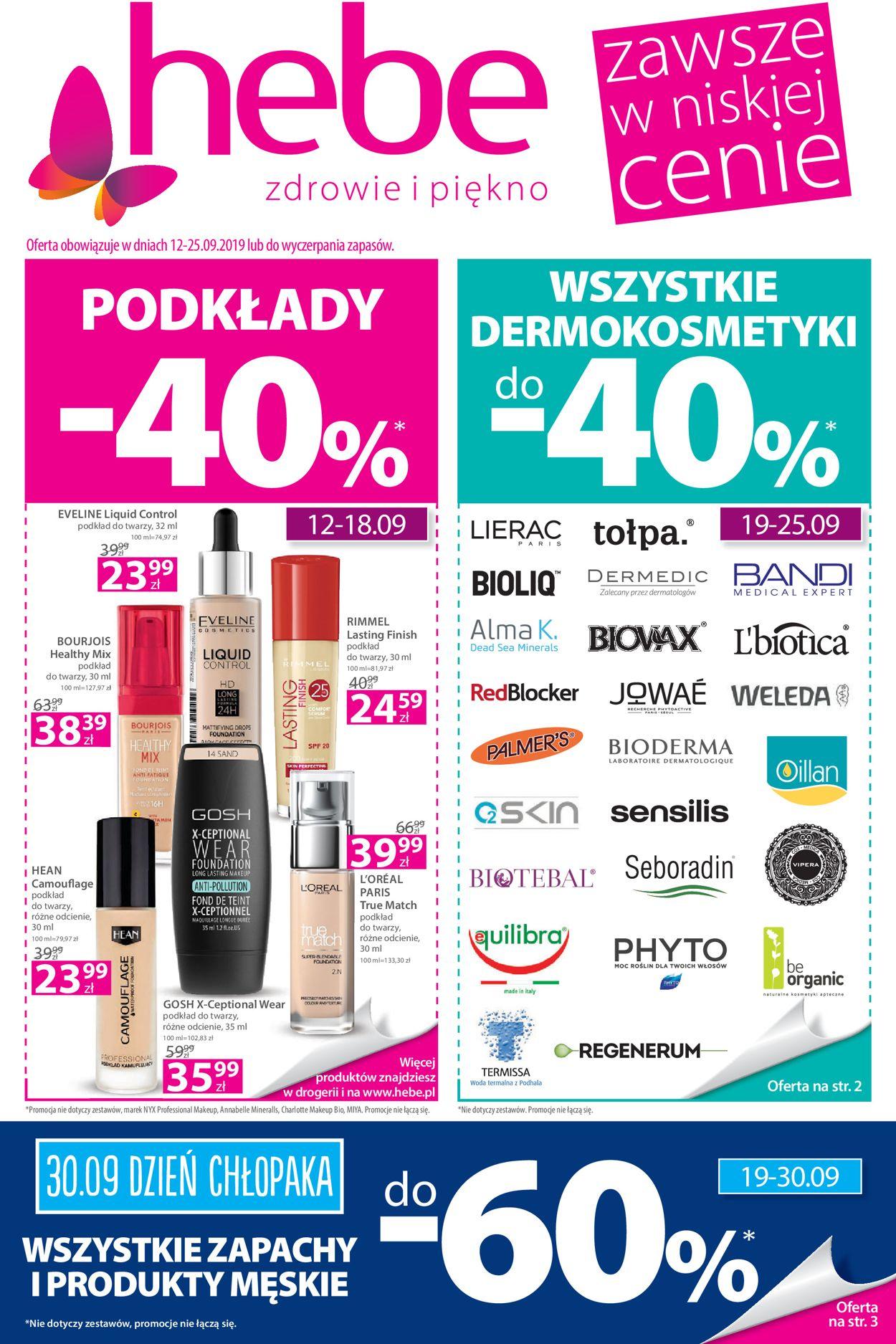 Gazetka promocyjna Hebe - 12.09-25.09.2019
