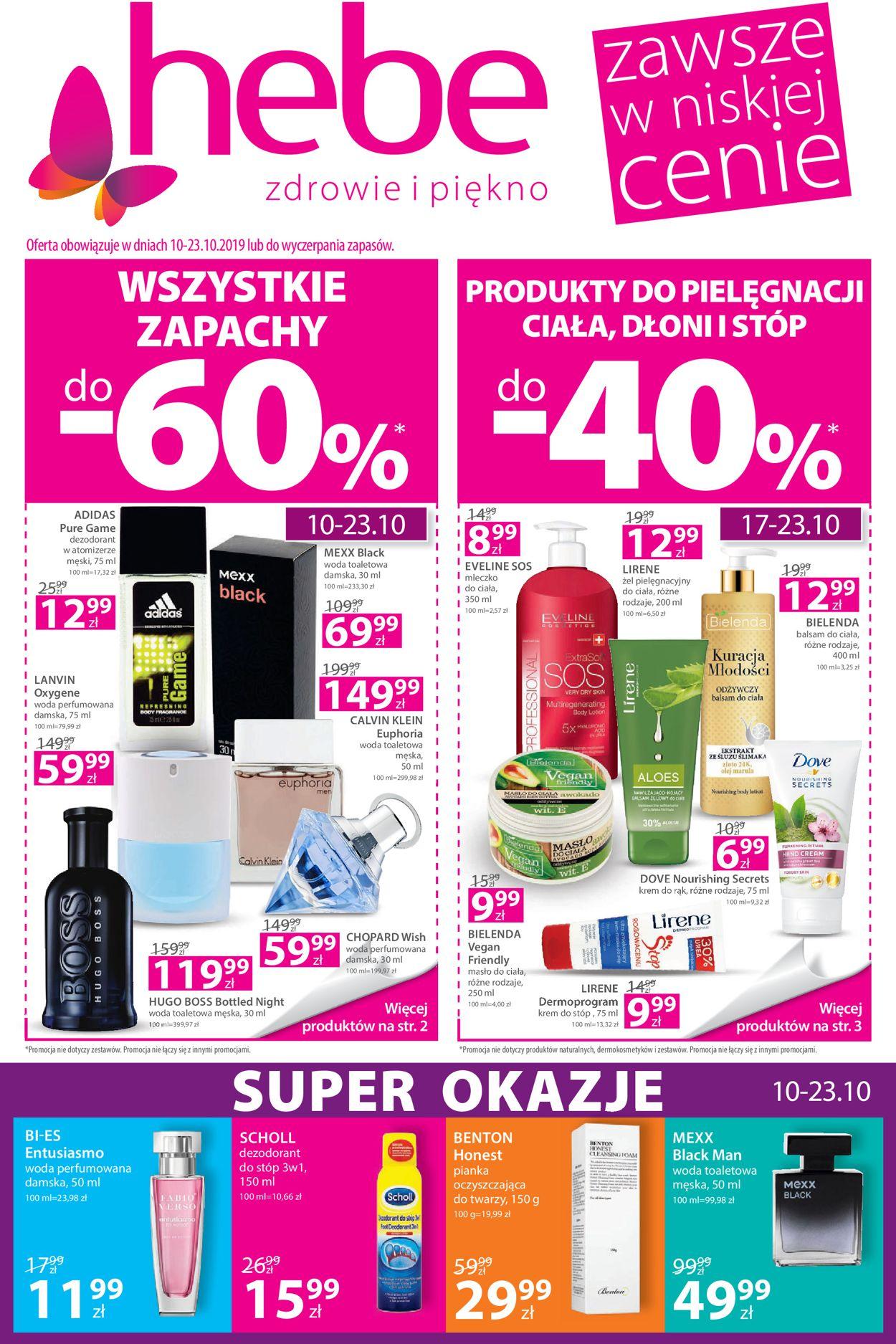Gazetka promocyjna Hebe - 10.10-23.10.2019