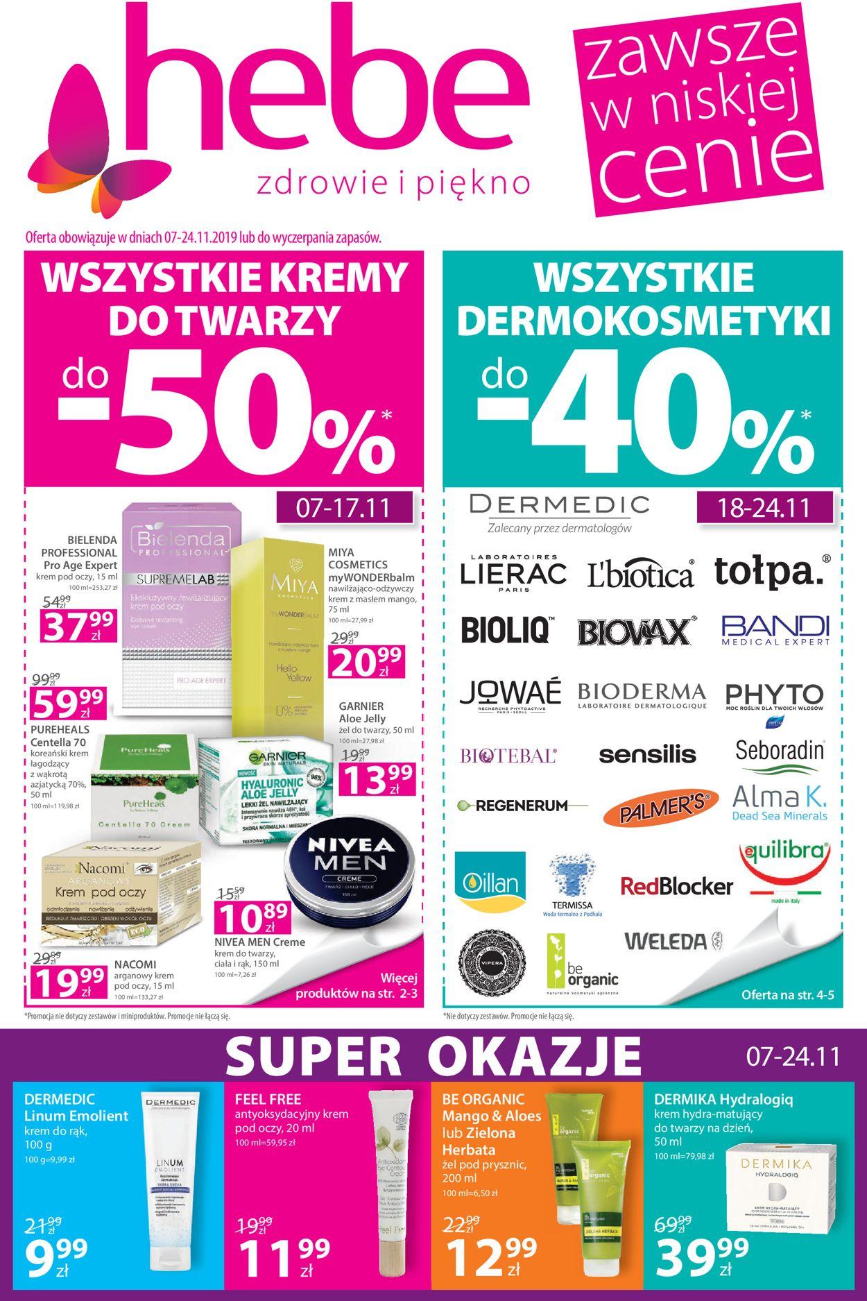 Gazetka promocyjna Hebe - 07.11-24.11.2019