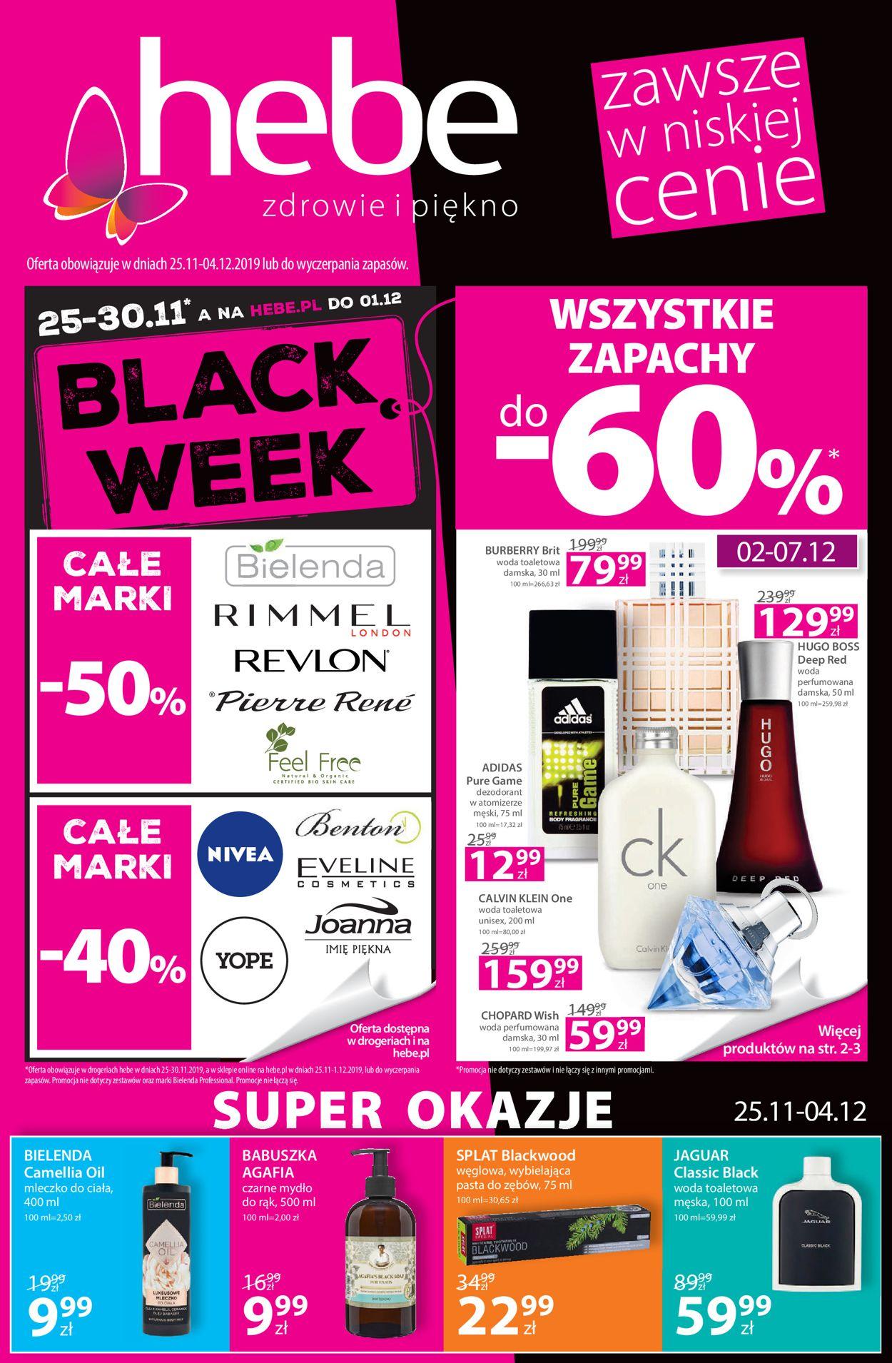 Gazetka promocyjna Hebe - Black Week - 25.11-04.12.2019