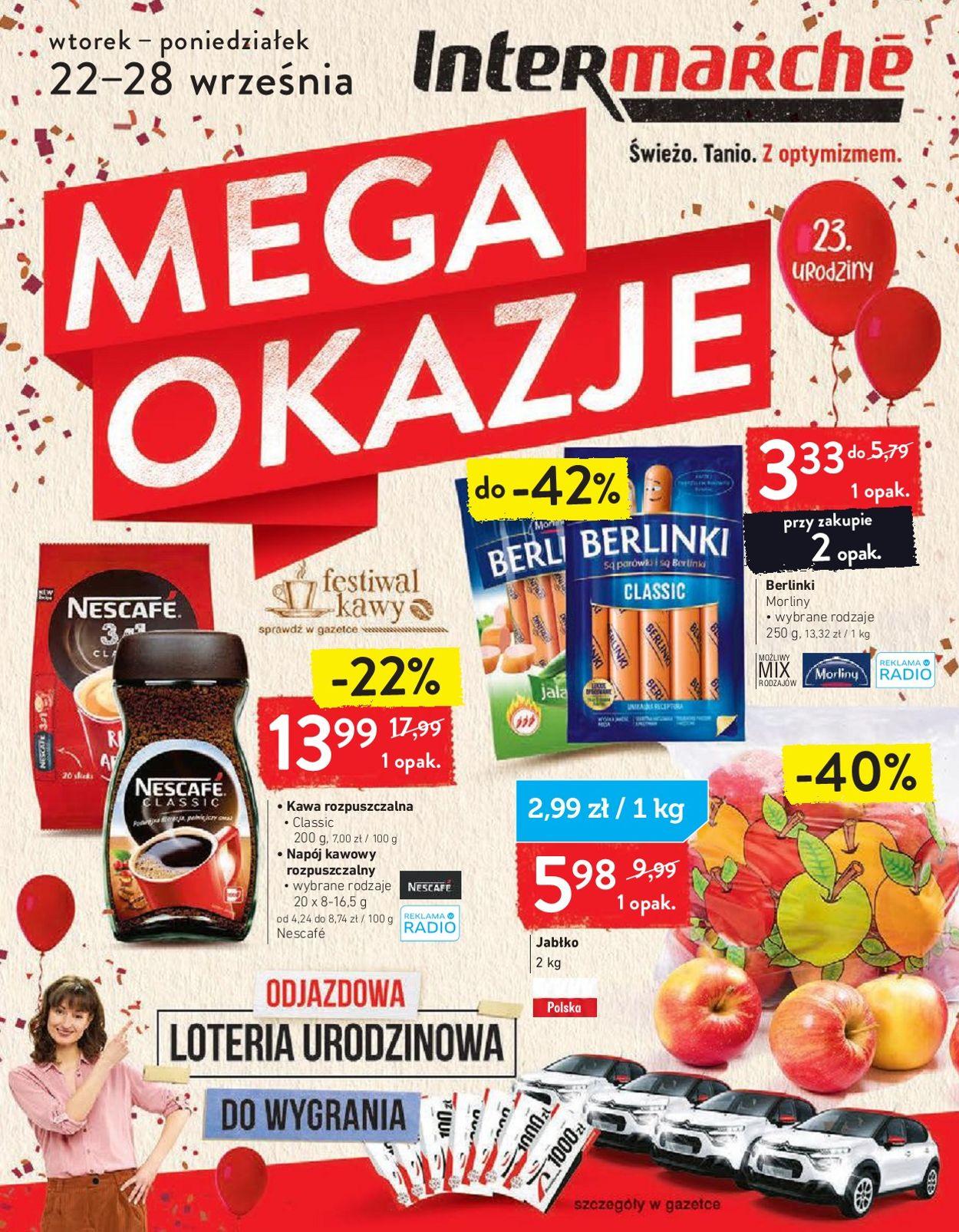 Gazetka promocyjna Intermarché - 22.09-28.09.2020