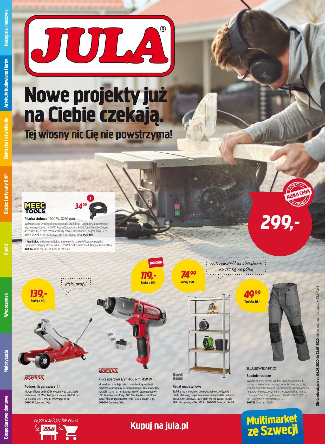 Gazetka promocyjna Jula - 04.03-22.03.2020