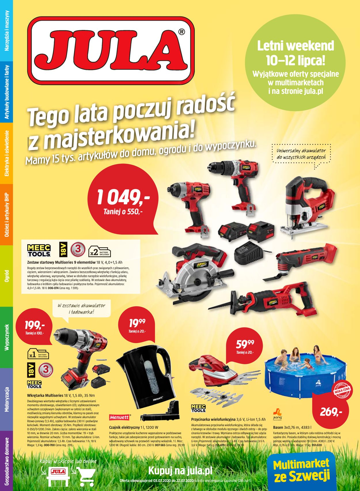 Gazetka promocyjna Jula - 03.07-22.07.2020