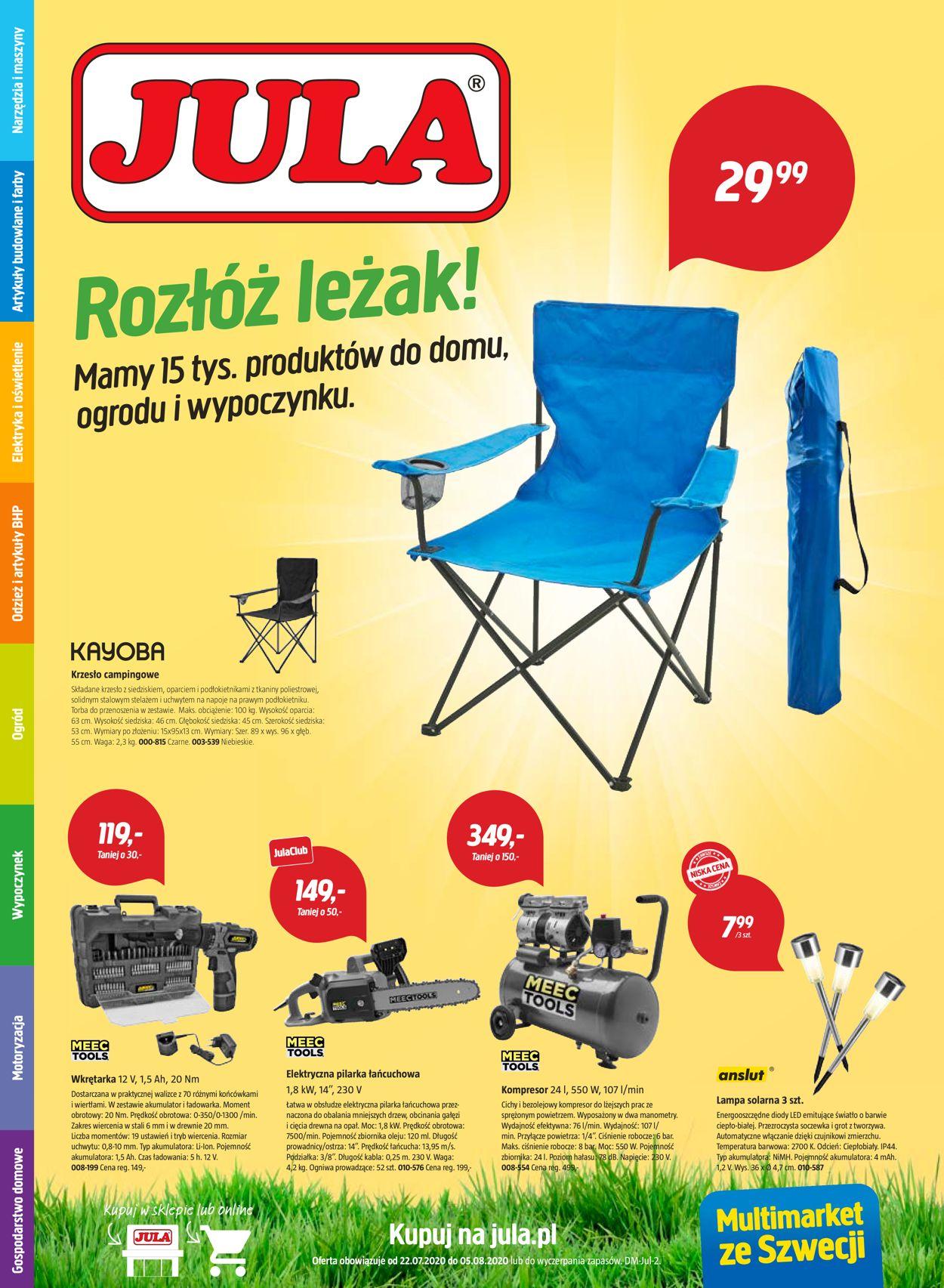 Gazetka promocyjna Jula - 22.07-05.08.2020