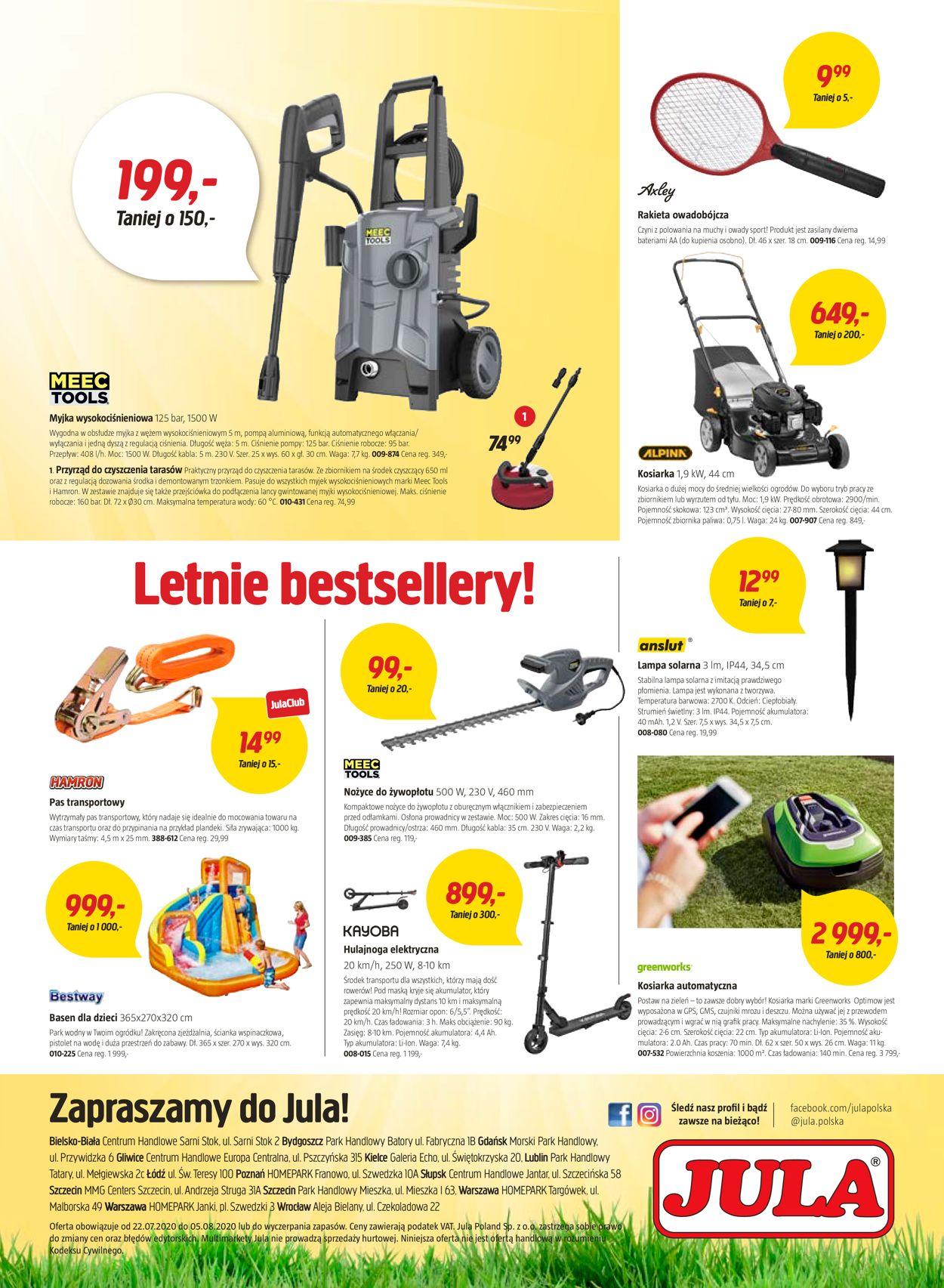 Gazetka promocyjna Jula - 22.07-05.08.2020 (Strona 8)