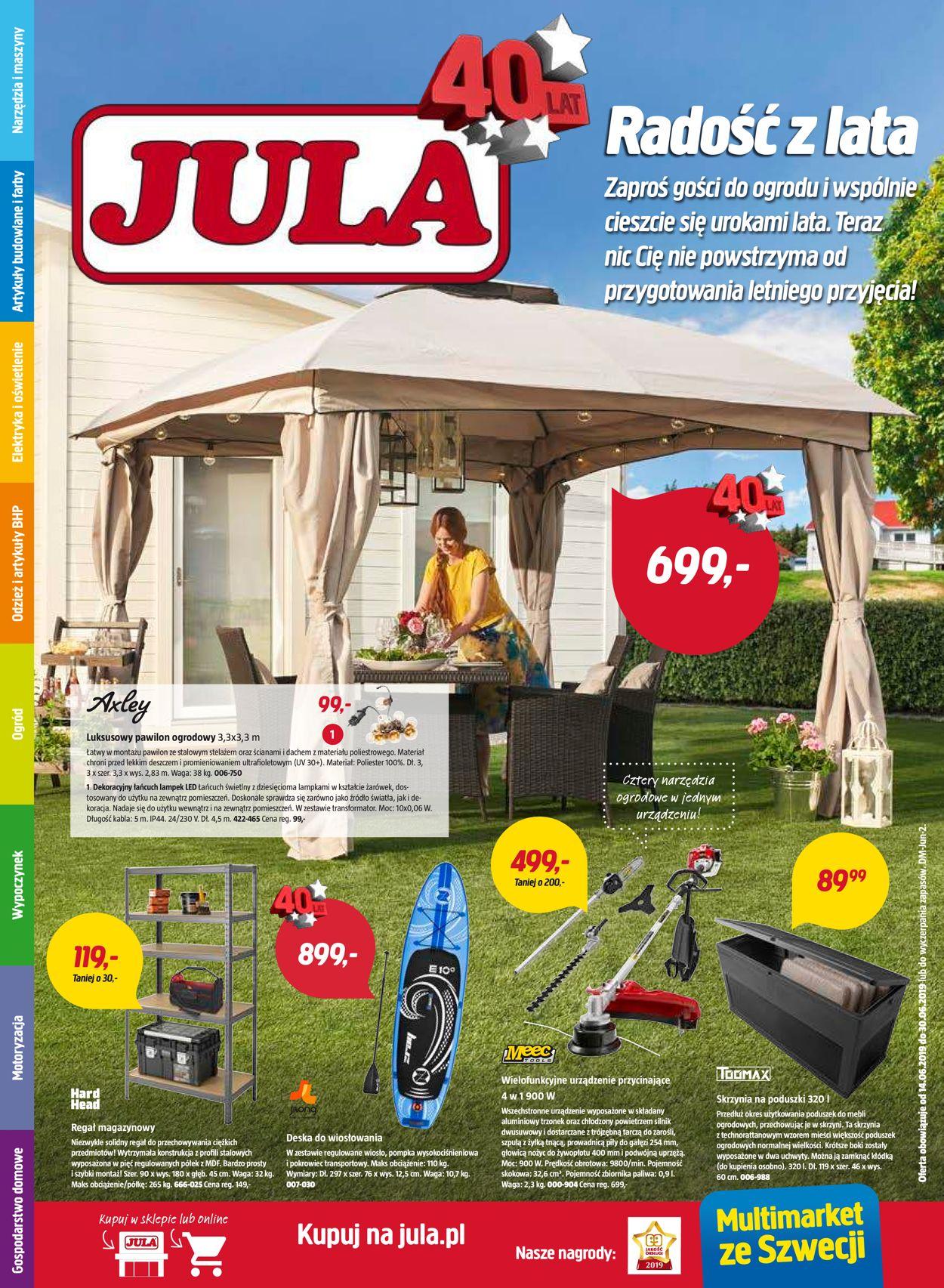 Gazetka promocyjna Jula - 14.06-30.06.2019