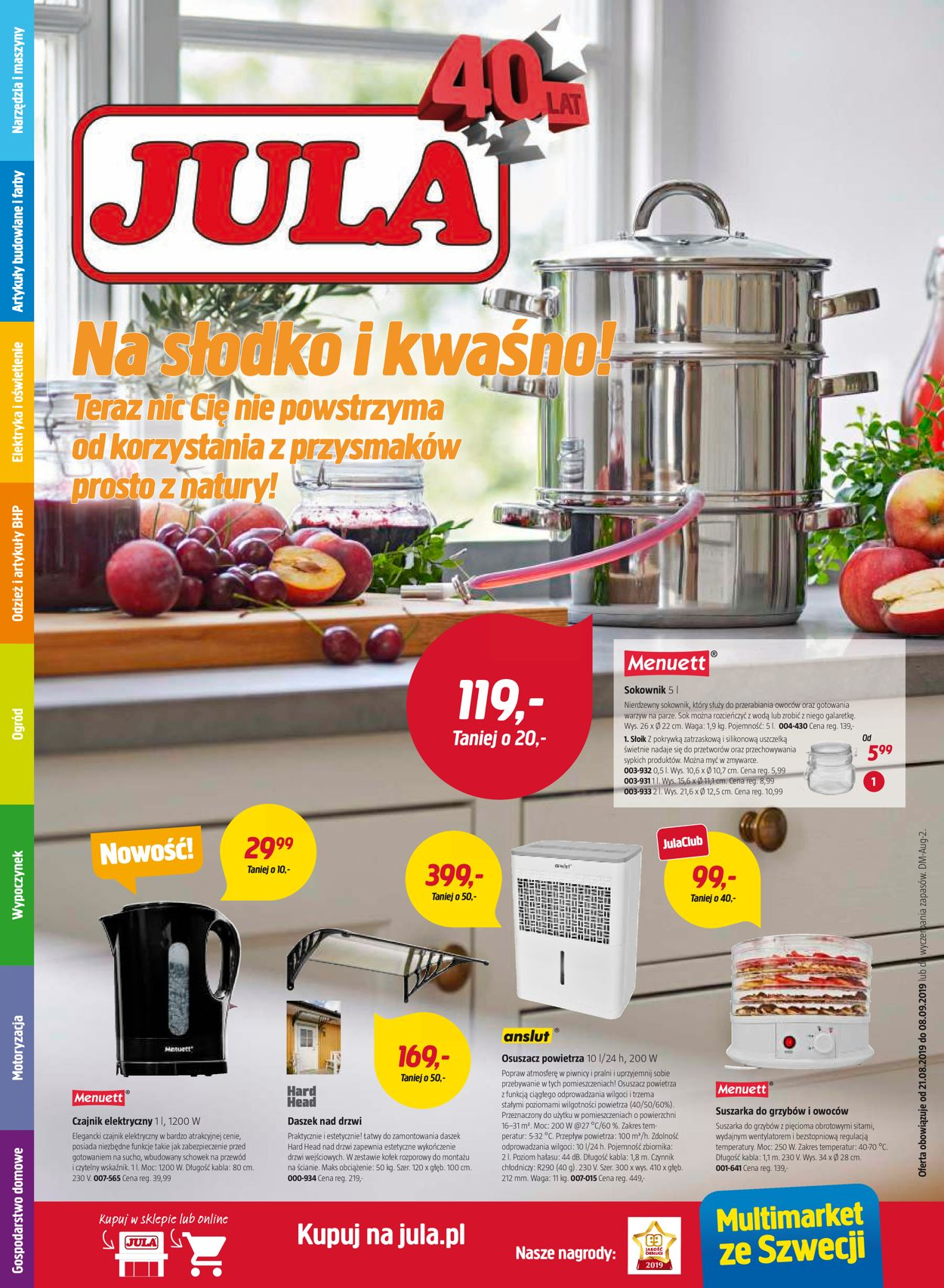 Gazetka promocyjna Jula - 21.08-08.09.2019
