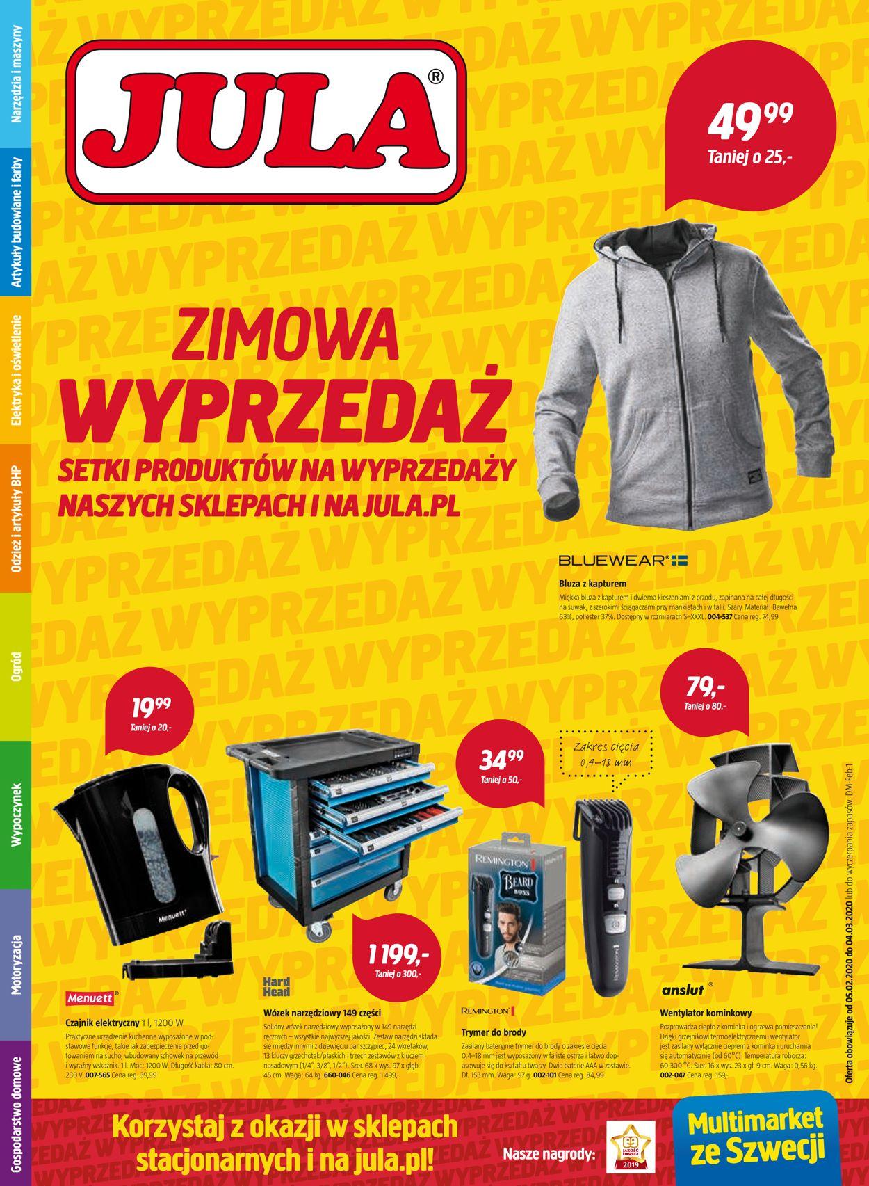 Gazetka promocyjna Jula - 05.02-04.03.2020