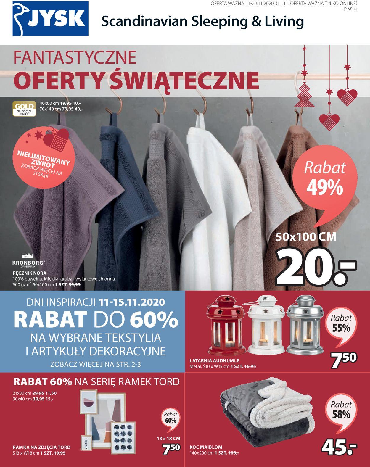 Gazetka promocyjna JYSK Oferty Świąteczne - 11.11-29.11.2020