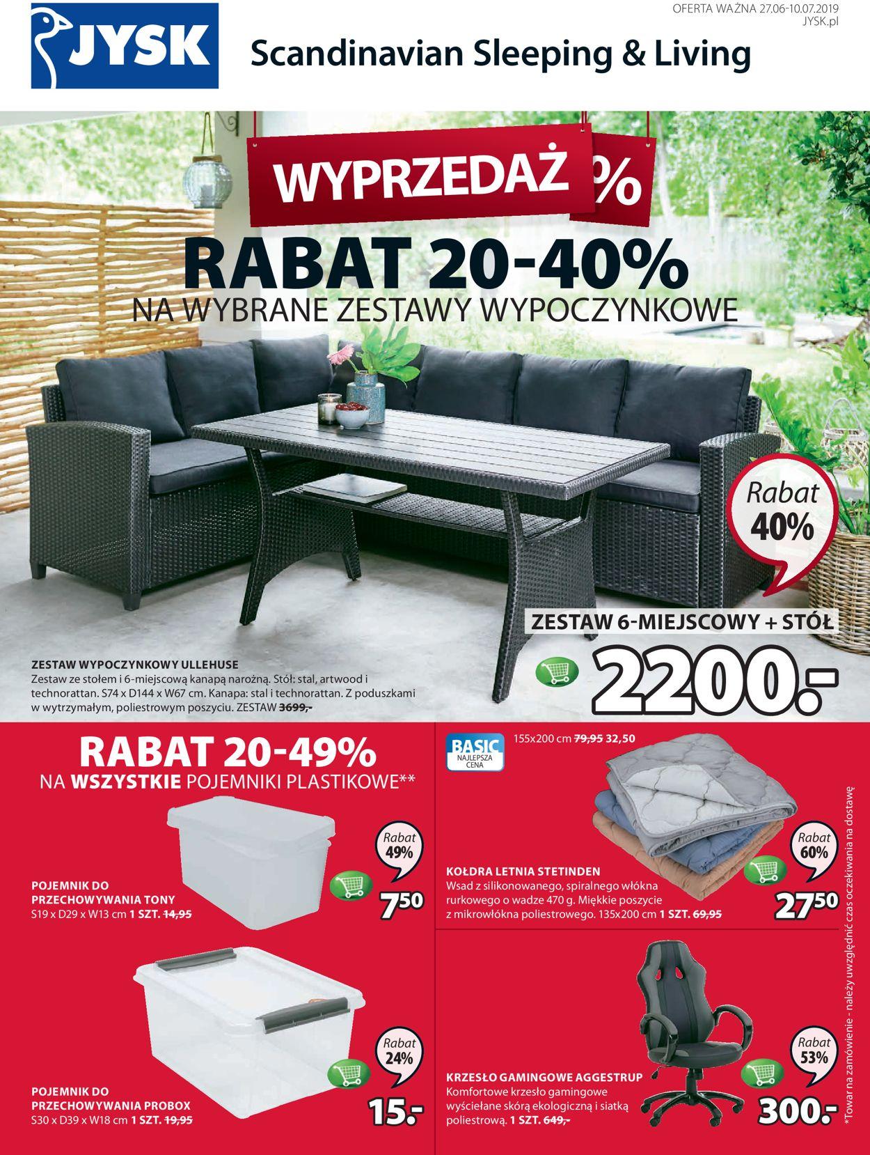Gazetka promocyjna JYSK - 27.06-10.07.2019