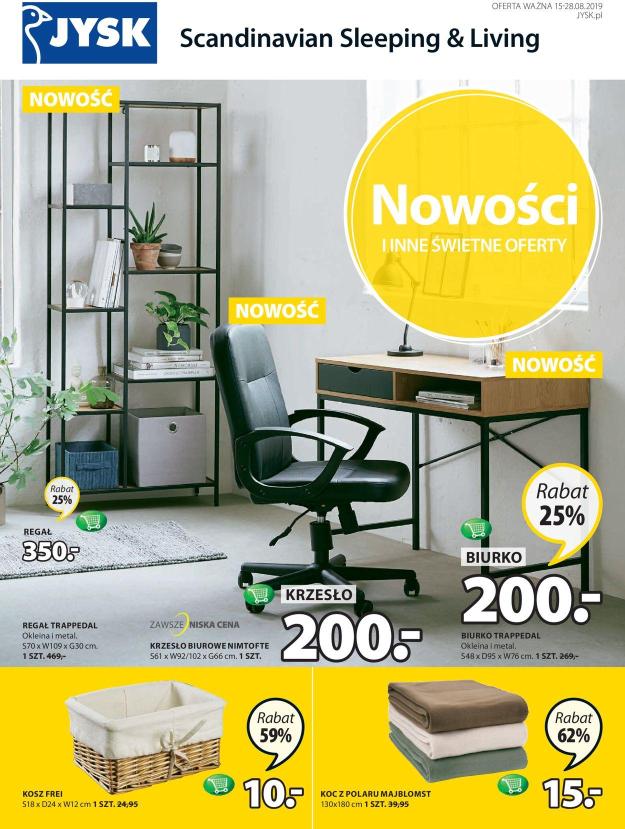 Gazetka promocyjna JYSK - 15.08-28.08.2019
