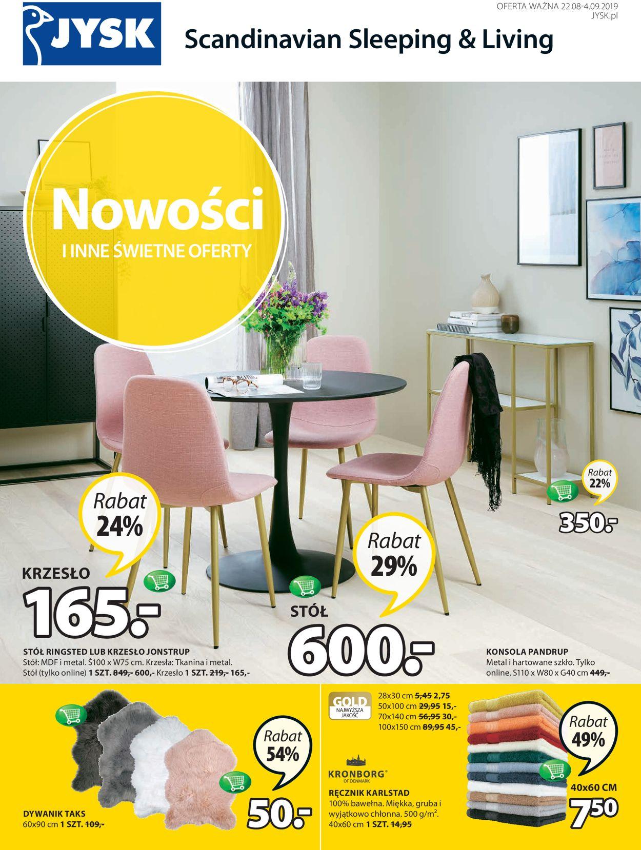 Gazetka promocyjna JYSK - 22.08-04.09.2019