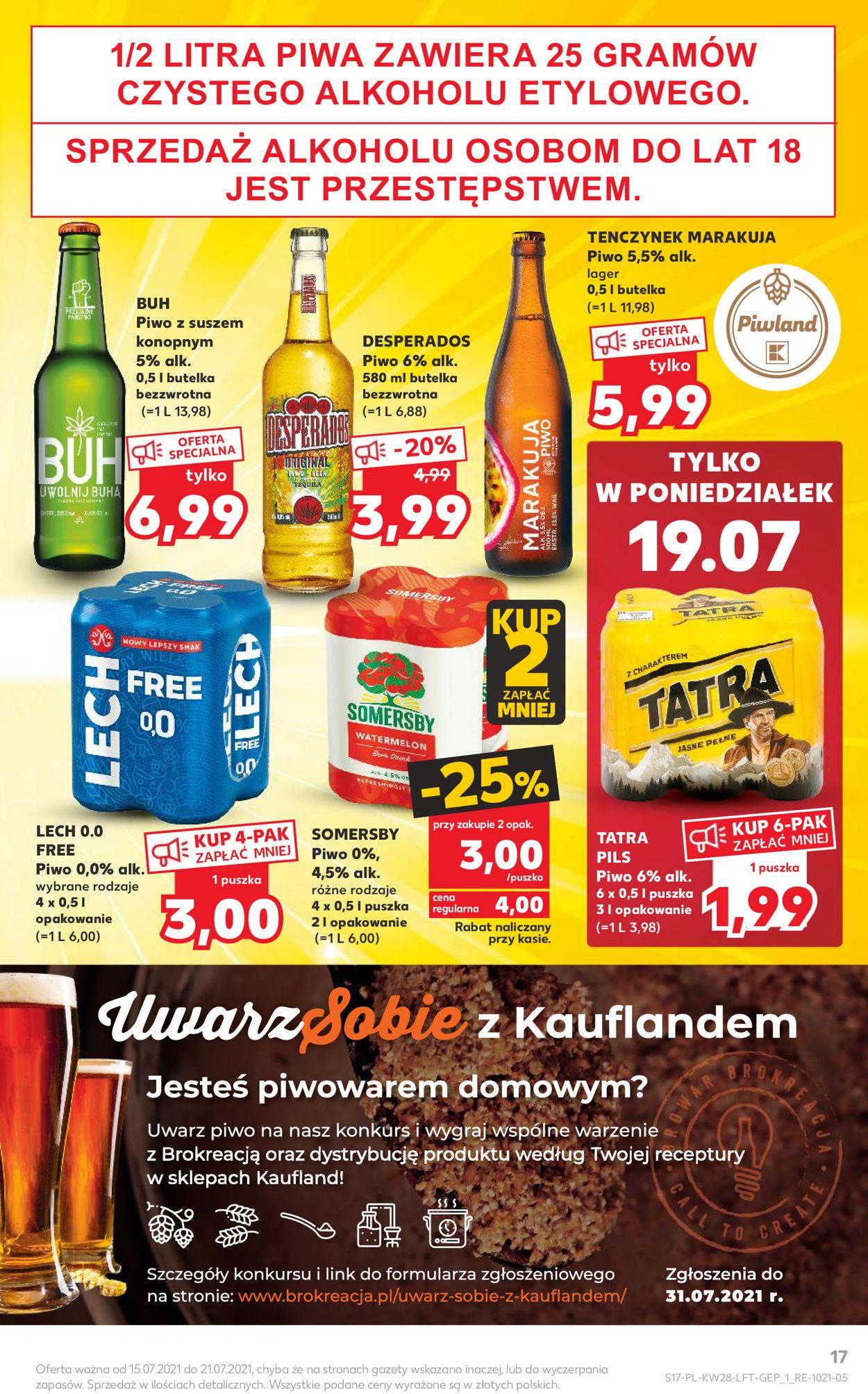 Gazetka promocyjna Kaufland - 15.07-21.07.2021 (Strona 17)